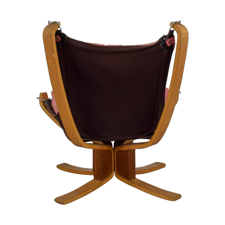 shop Danish Modern Pink Sling Chair