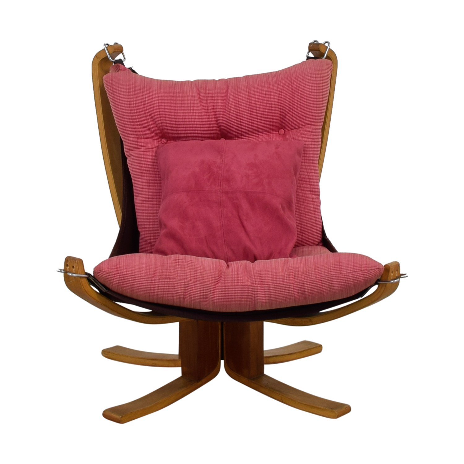 Danish Modern Pink Sling Chair / Chairs ...