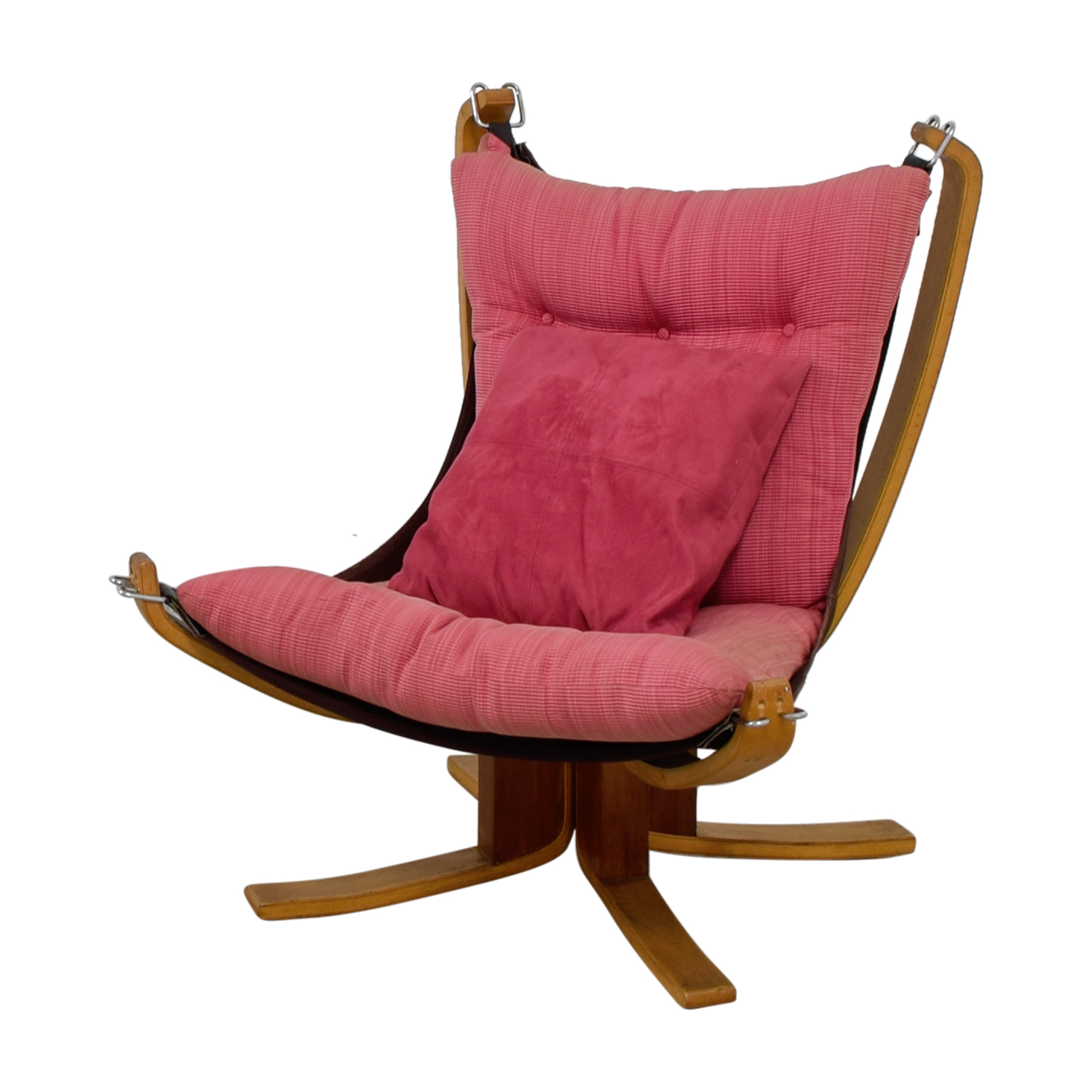 80 Off Danish Modern Pink Sling Chair Chairs