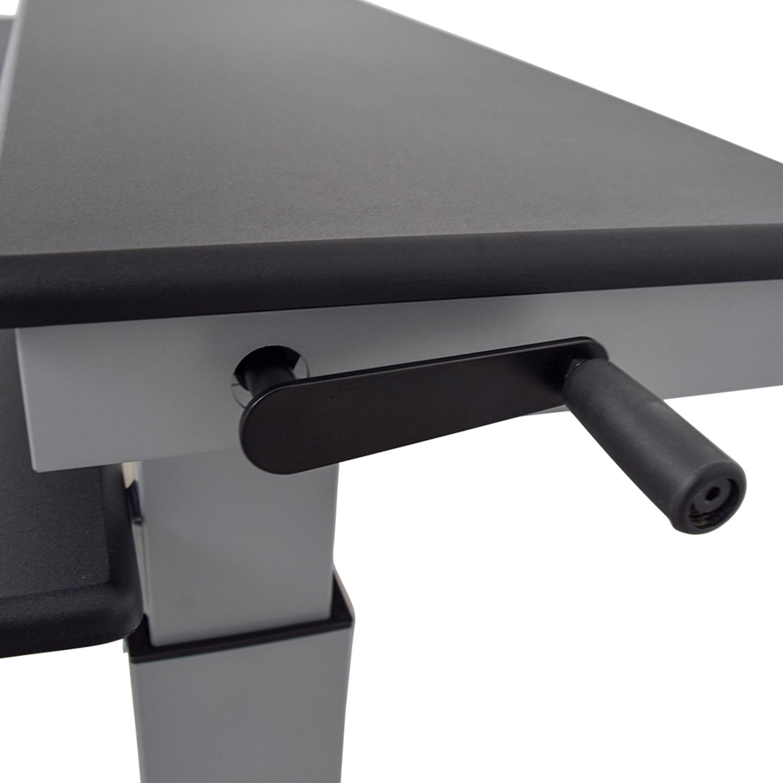 86% OFF - Rakuten Rakuten Crank Adjustable Height Sit To Stand Up Desk / Tables
