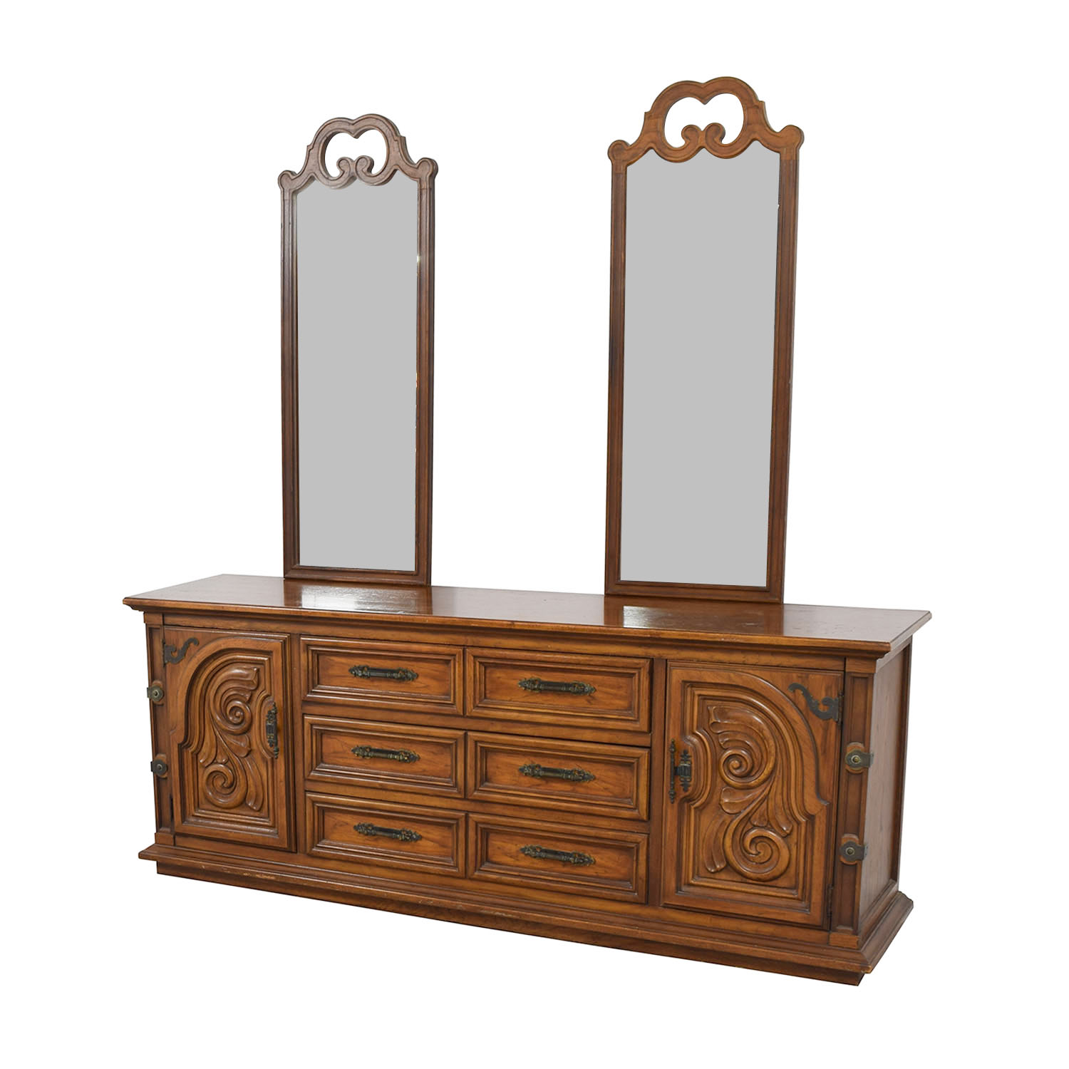 Thomasville Thomasville Double Dresser with Double Mirror Dressers