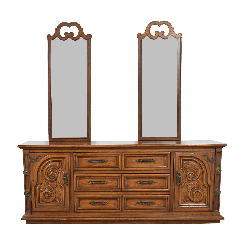 Thomasville Thomasville Double Dresser with Double Mirror
