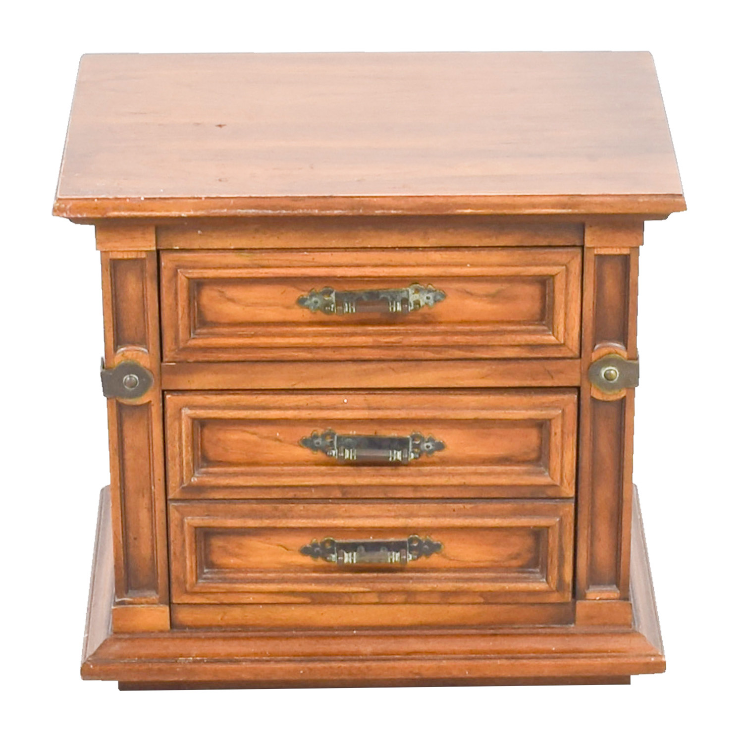 Two-Drawer Wood Nightstand discount