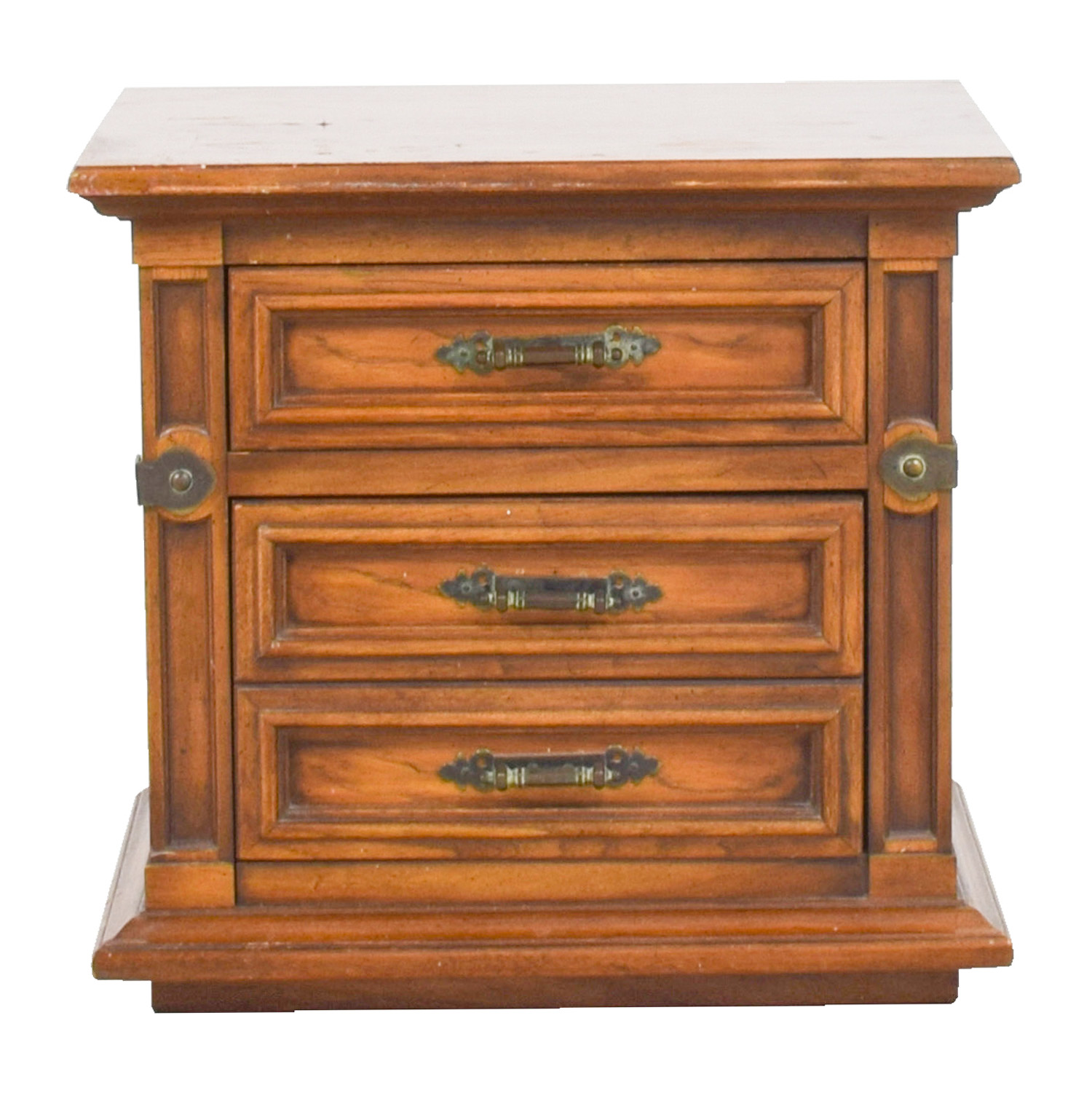 Two-Drawer Wood Nightstand on sale