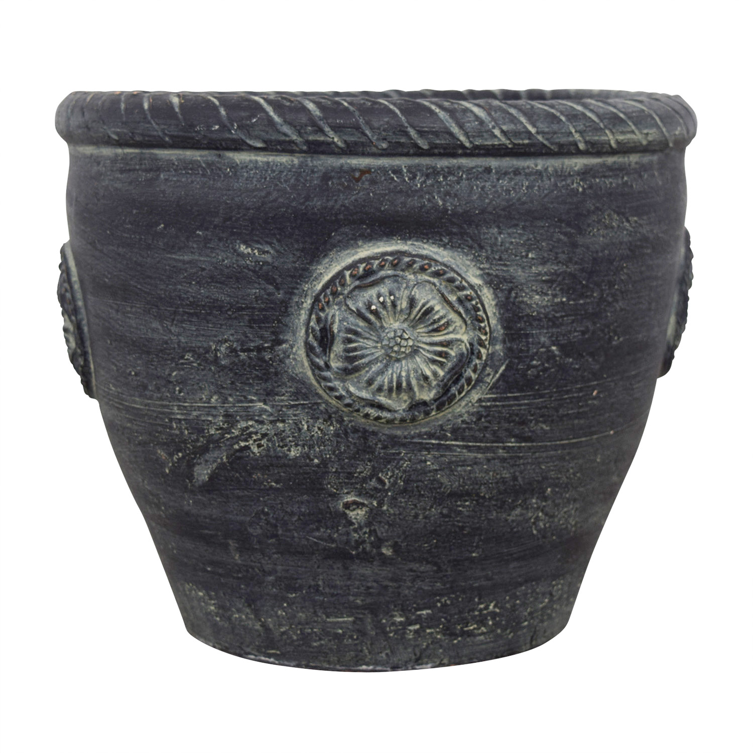 Ceramic Dark Green Flower Pot nj