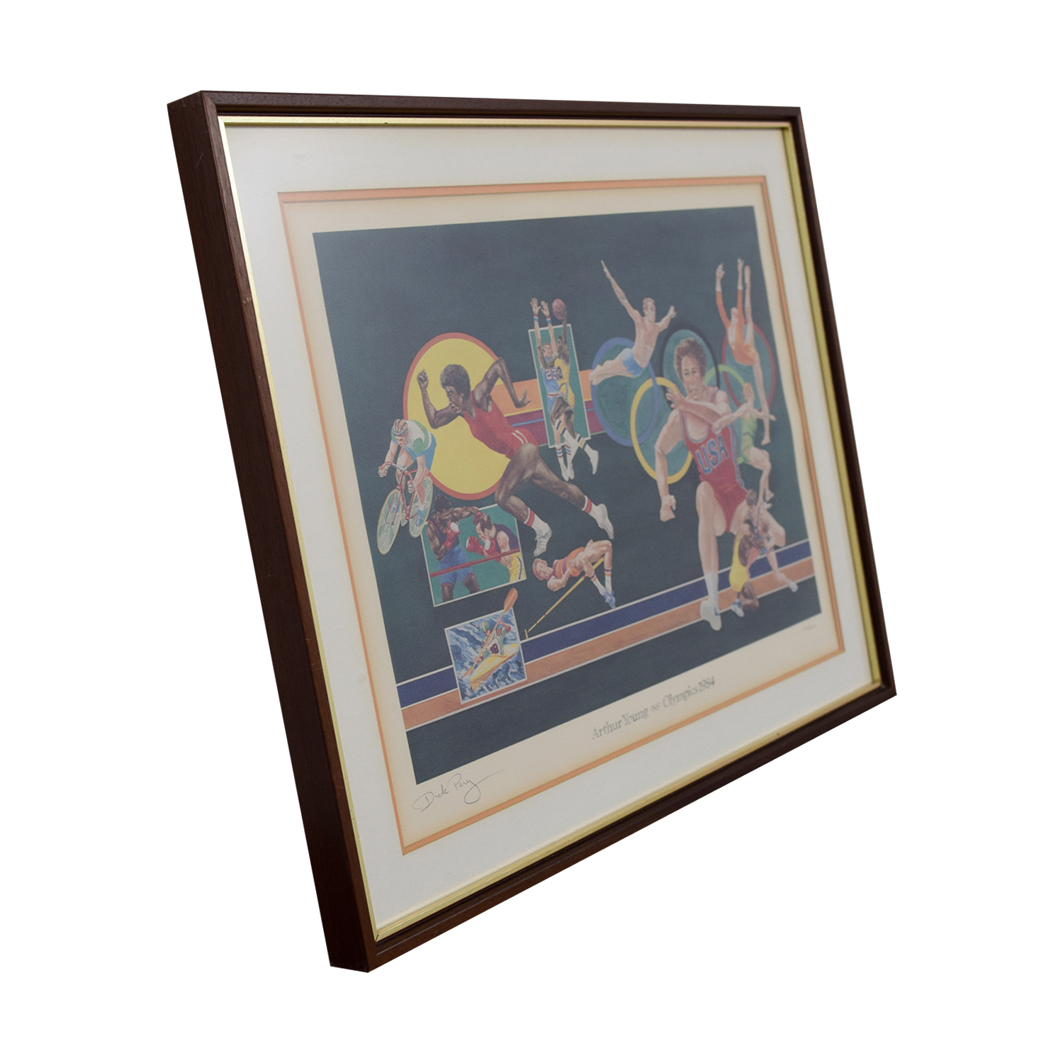 buy Caitlyn Jenner Dick Pery Signed 1984 Olympic Art Dick Pery Decor