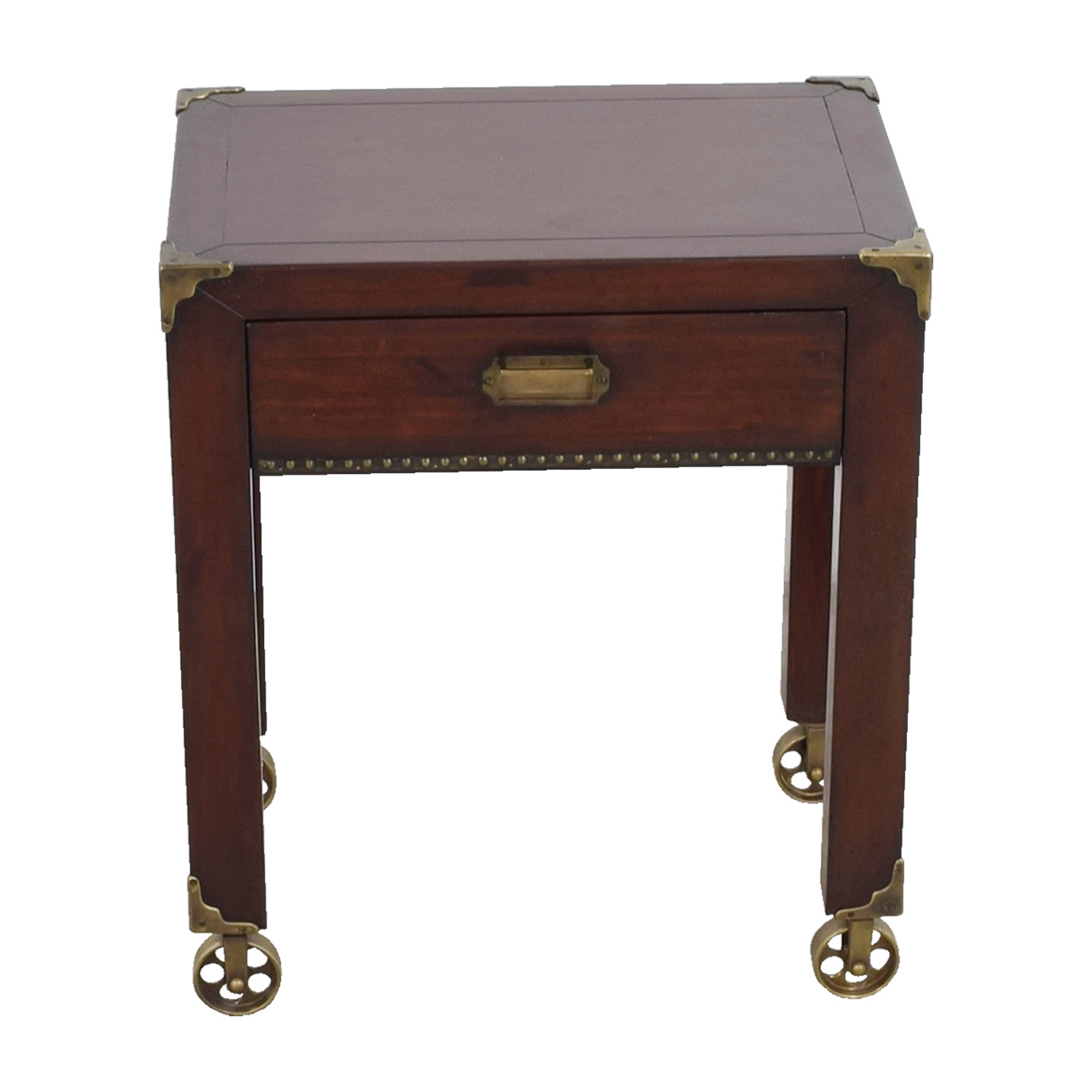 Grange Grange British Colonial Single Drawer End Table on Castors