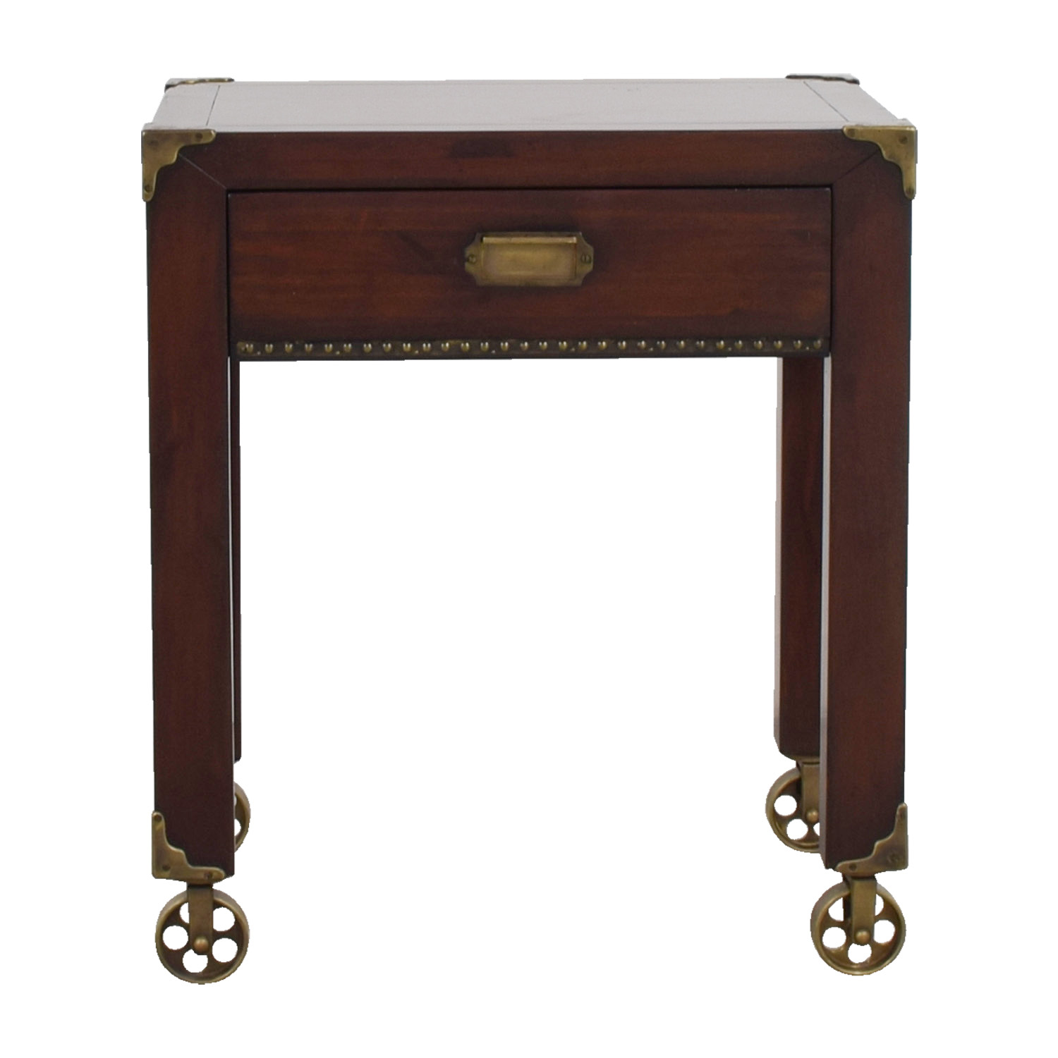 Grange Grange British Colonial Single Drawer End Table on Castors nj