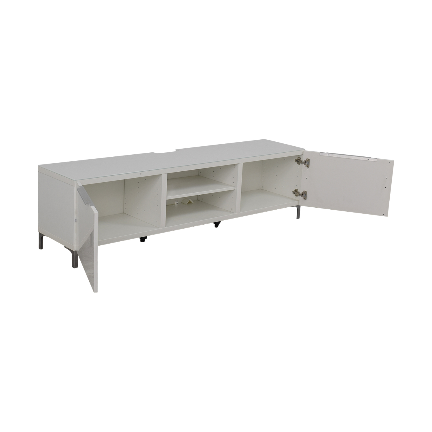 89 off ikea ikea white media console storage