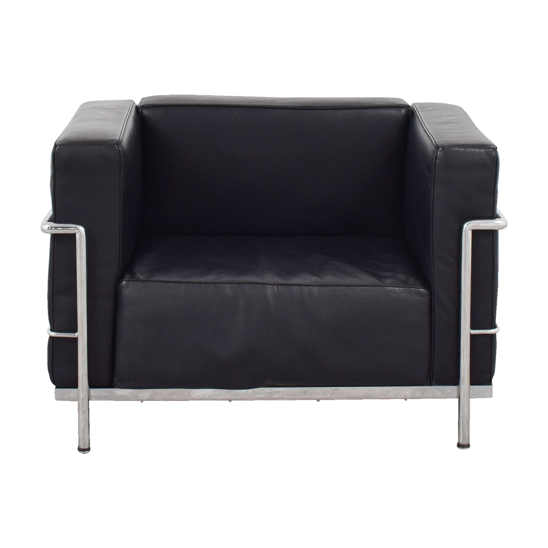Exceptionnel Le Corbusier Replica Black Lounge Chair Price ...