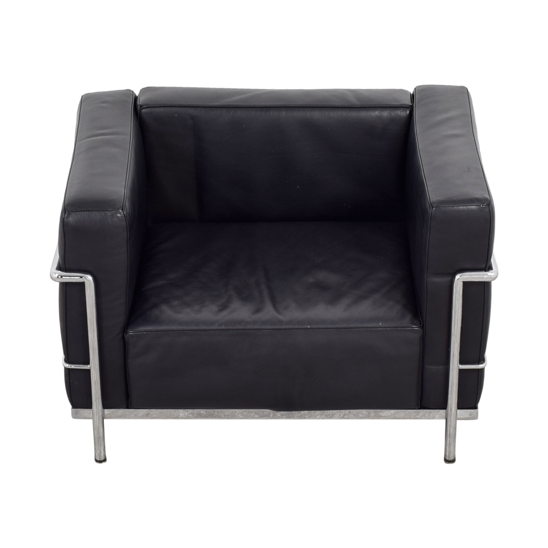 buy Le Corbusier Replica Black L3 Accent Chair Accent Chairs