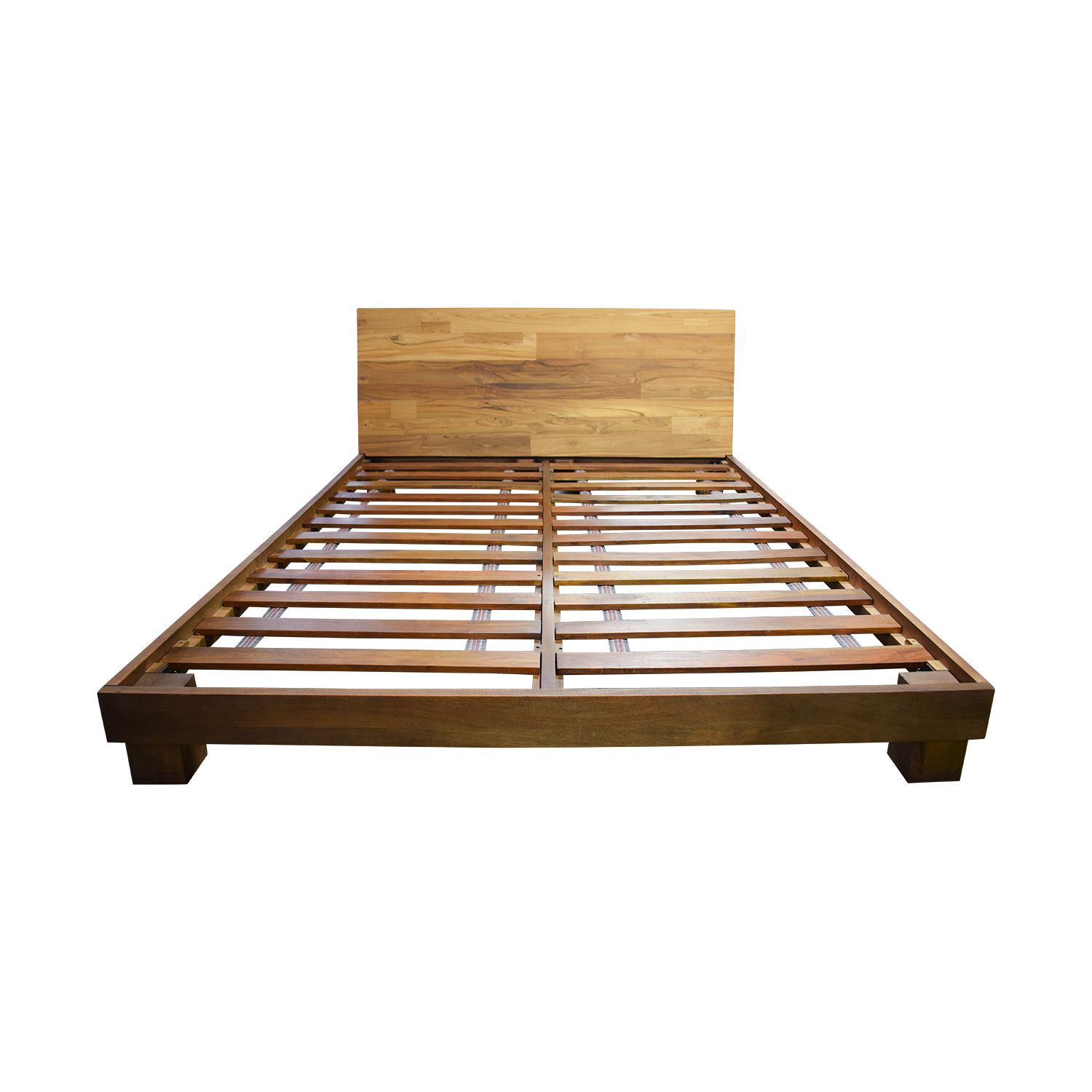 Picture of: 56 Off Cb2 Cb2 Dondra Teak Platform Queen Bed Frame Beds