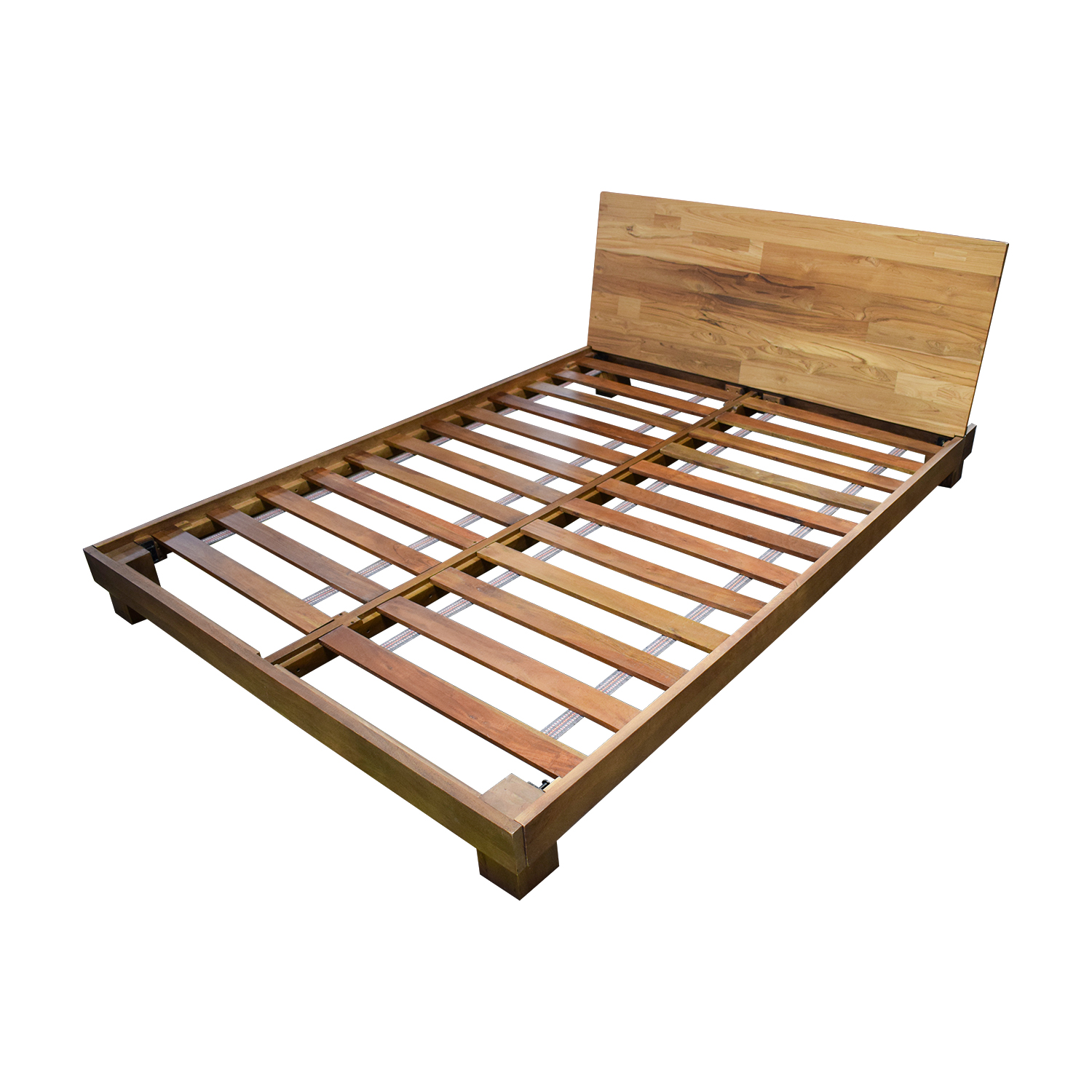 Bed Frame Made Of X With Bins