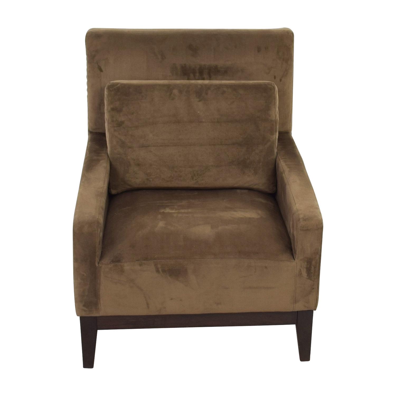 West Elm West Elm Grey Velvet Armchair for sale
