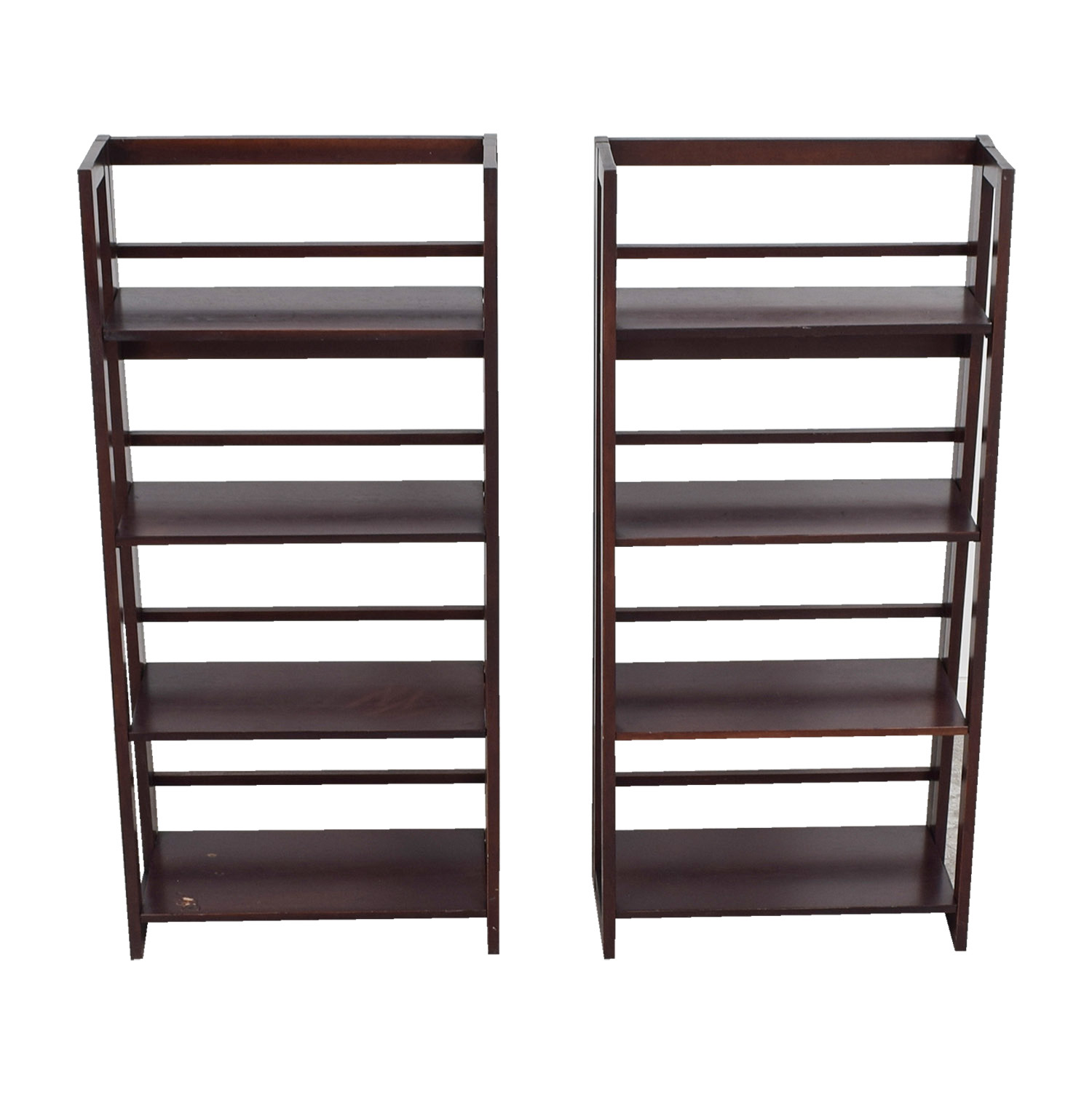 Crate & Barrel Crate & Barrel Cherry Bookcases on sale