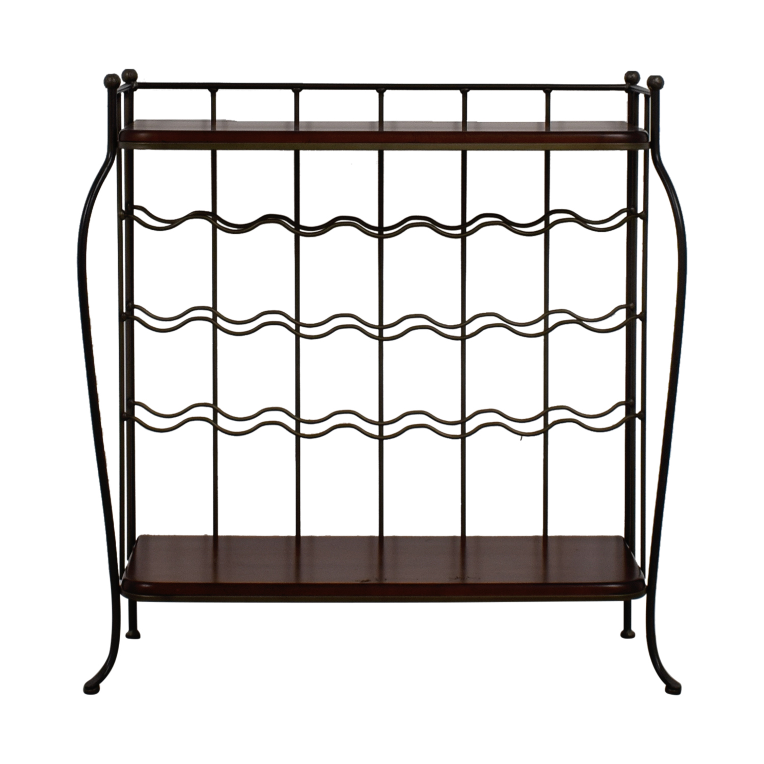 shop Metal and Wood Wine Rack Decor