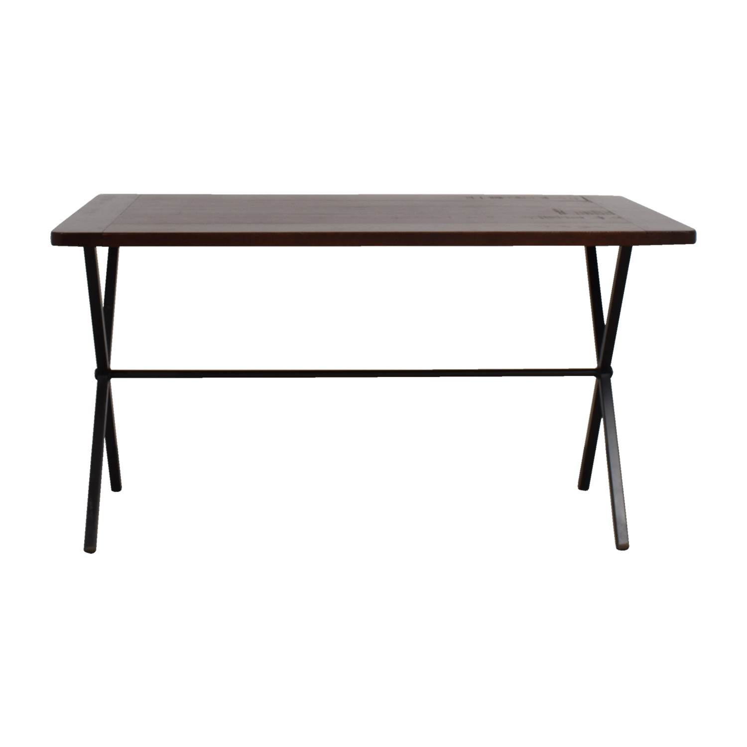 Brown Top with Black Base Table