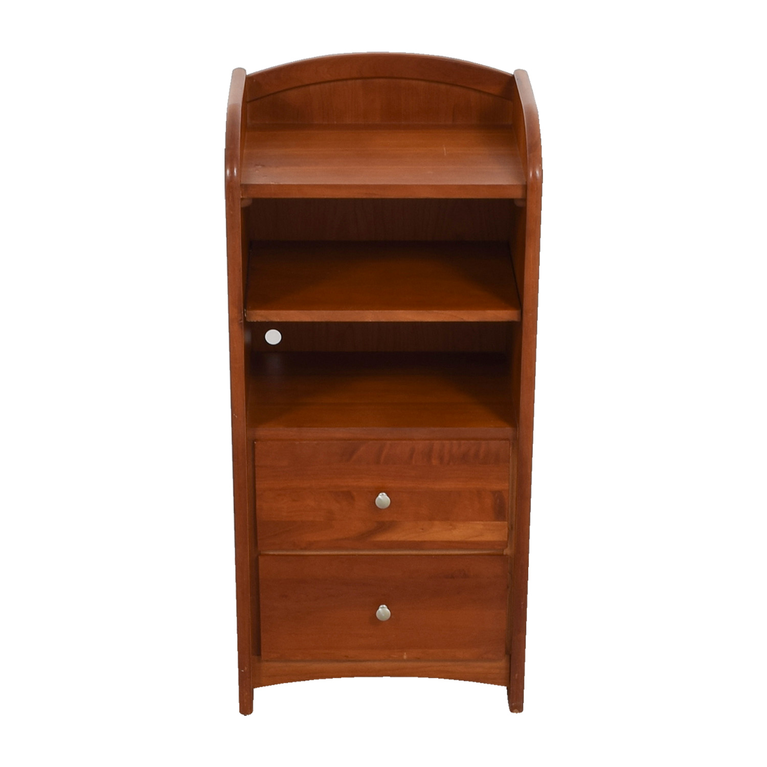 Two-Drawer With Shelves Side Table discount