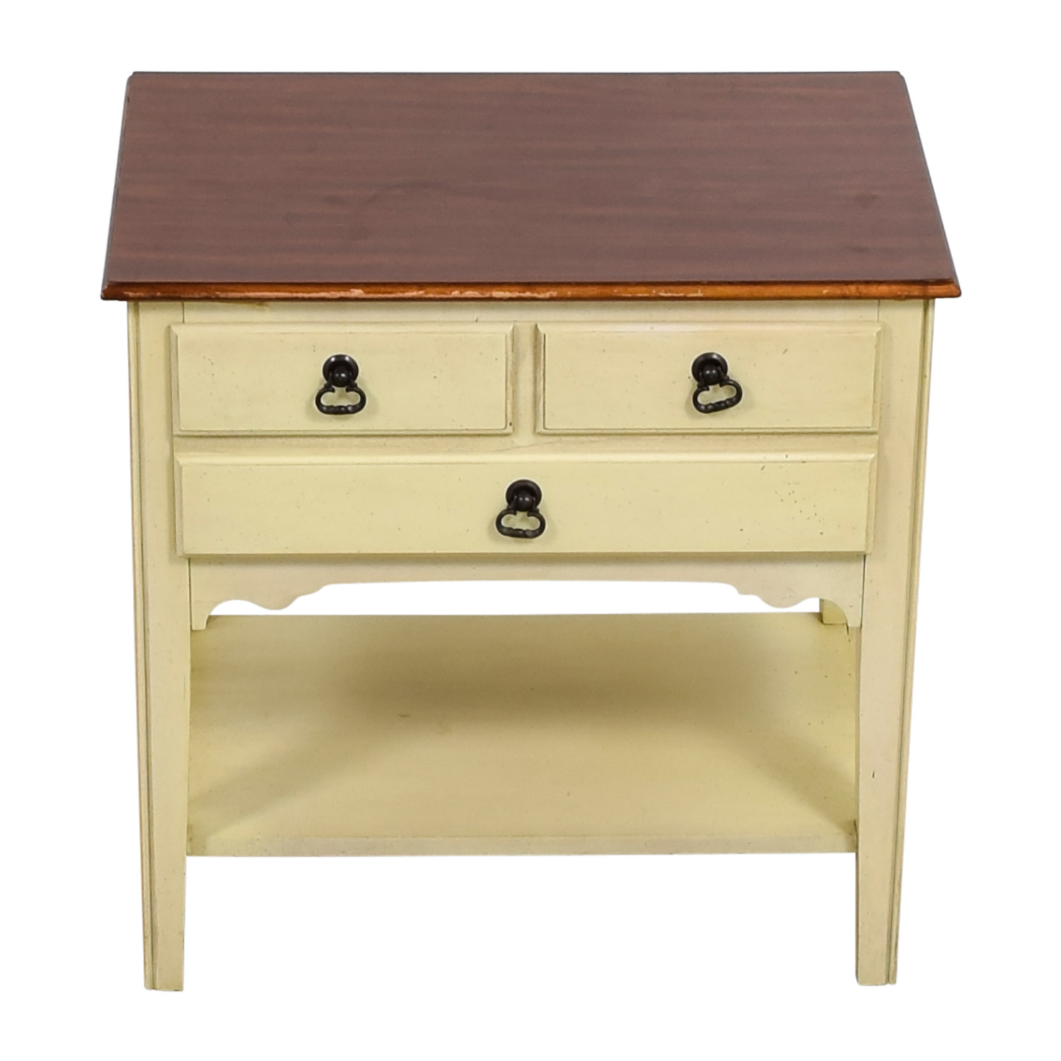 American of Martinsville White Single Drawer Nightstand American of Martinsville
