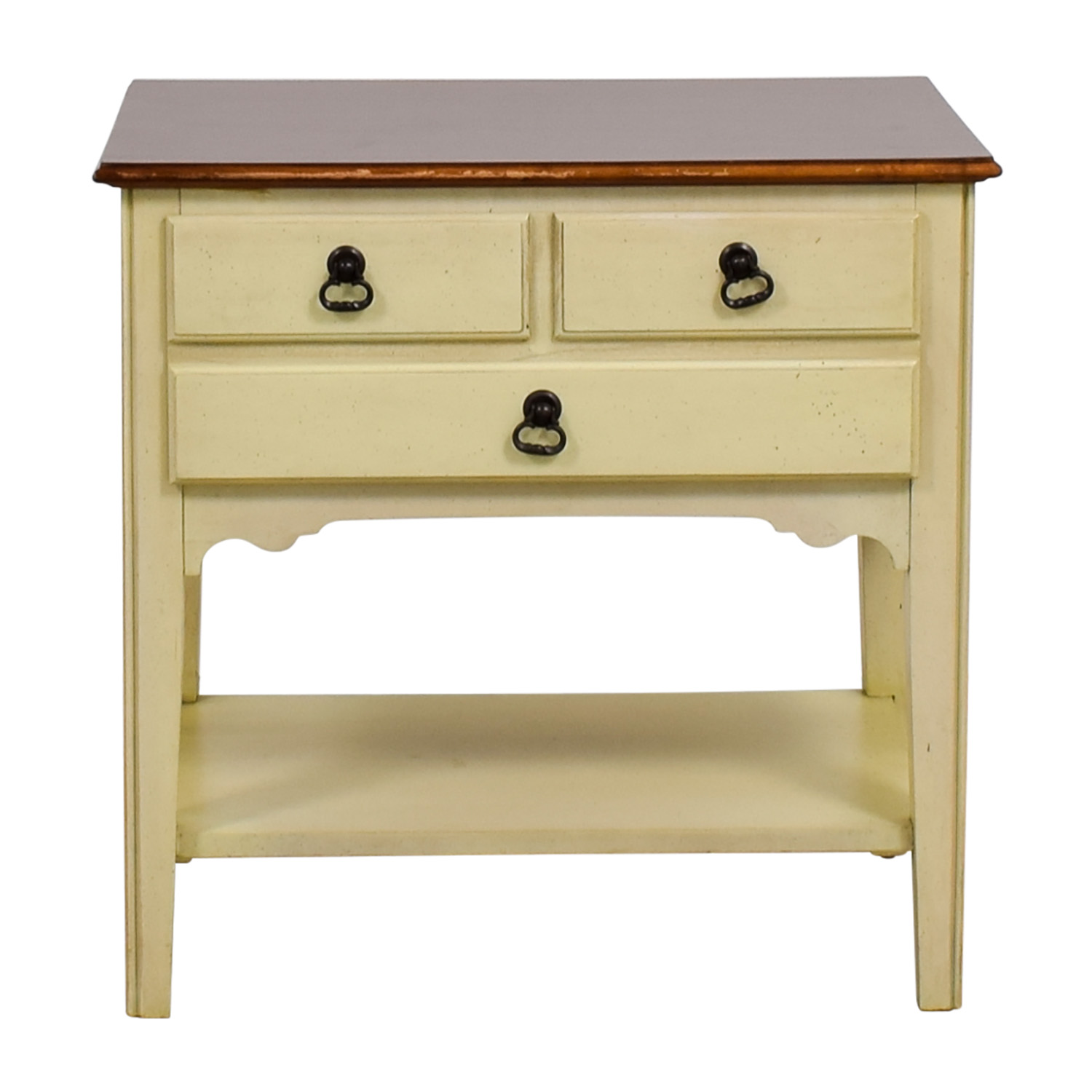 American of Martinsville American of Martinsville White Single Drawer Nightstand nj