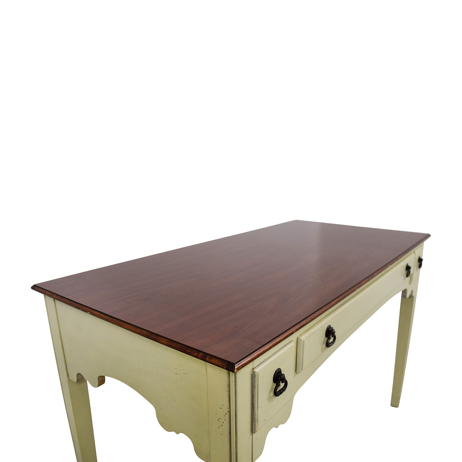 American of Martinsville American of Martinsville White Single Drawer Vanity Desk on sale