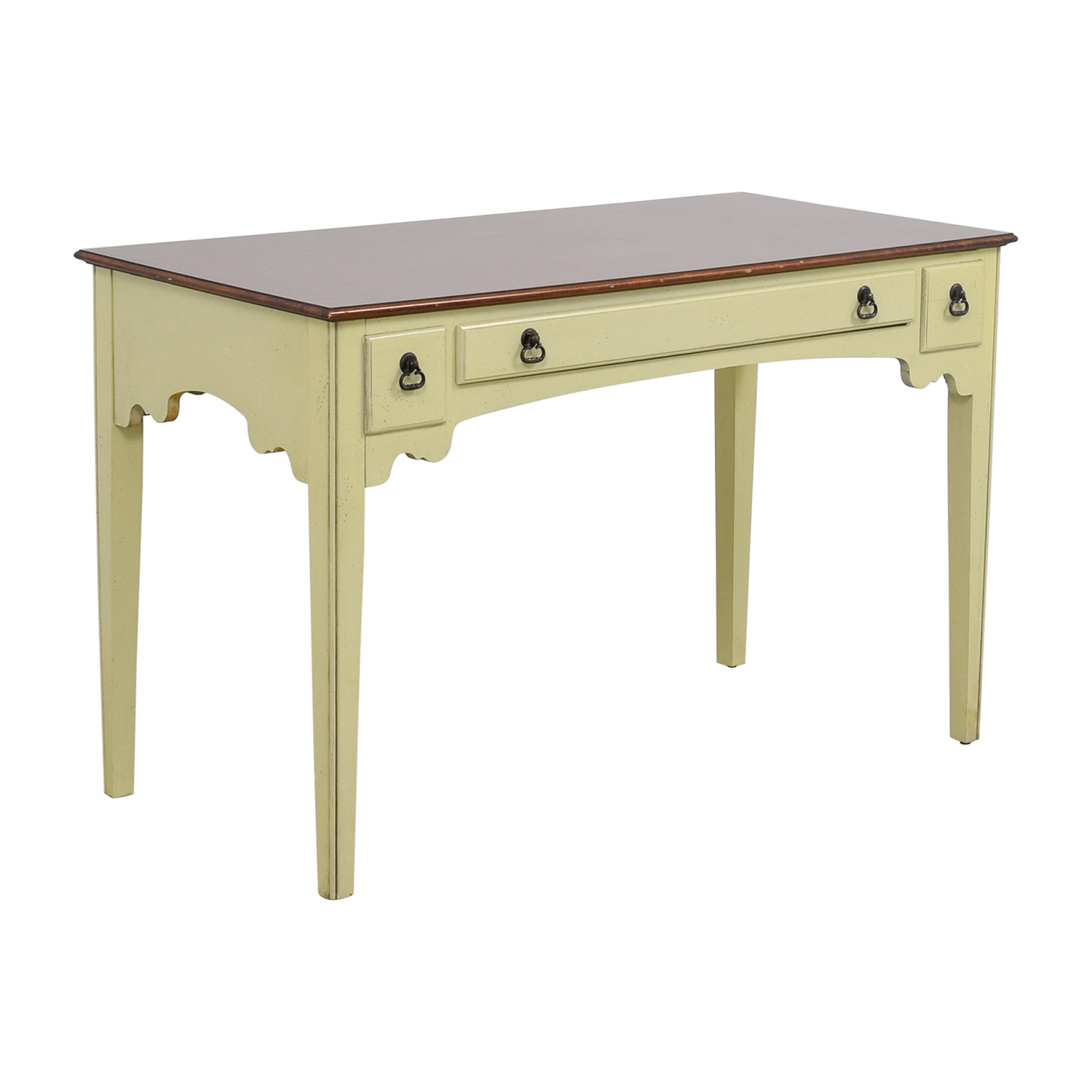 buy American of Martinsville White Single Drawer Vanity Desk American of Martinsville