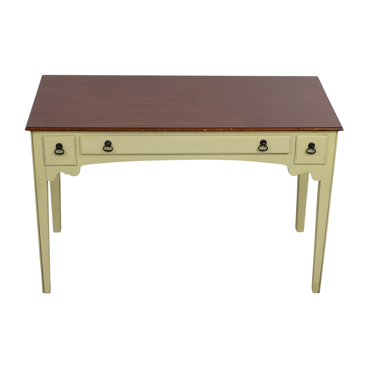 American of Martinsville White Single Drawer Vanity Desk / Sofas