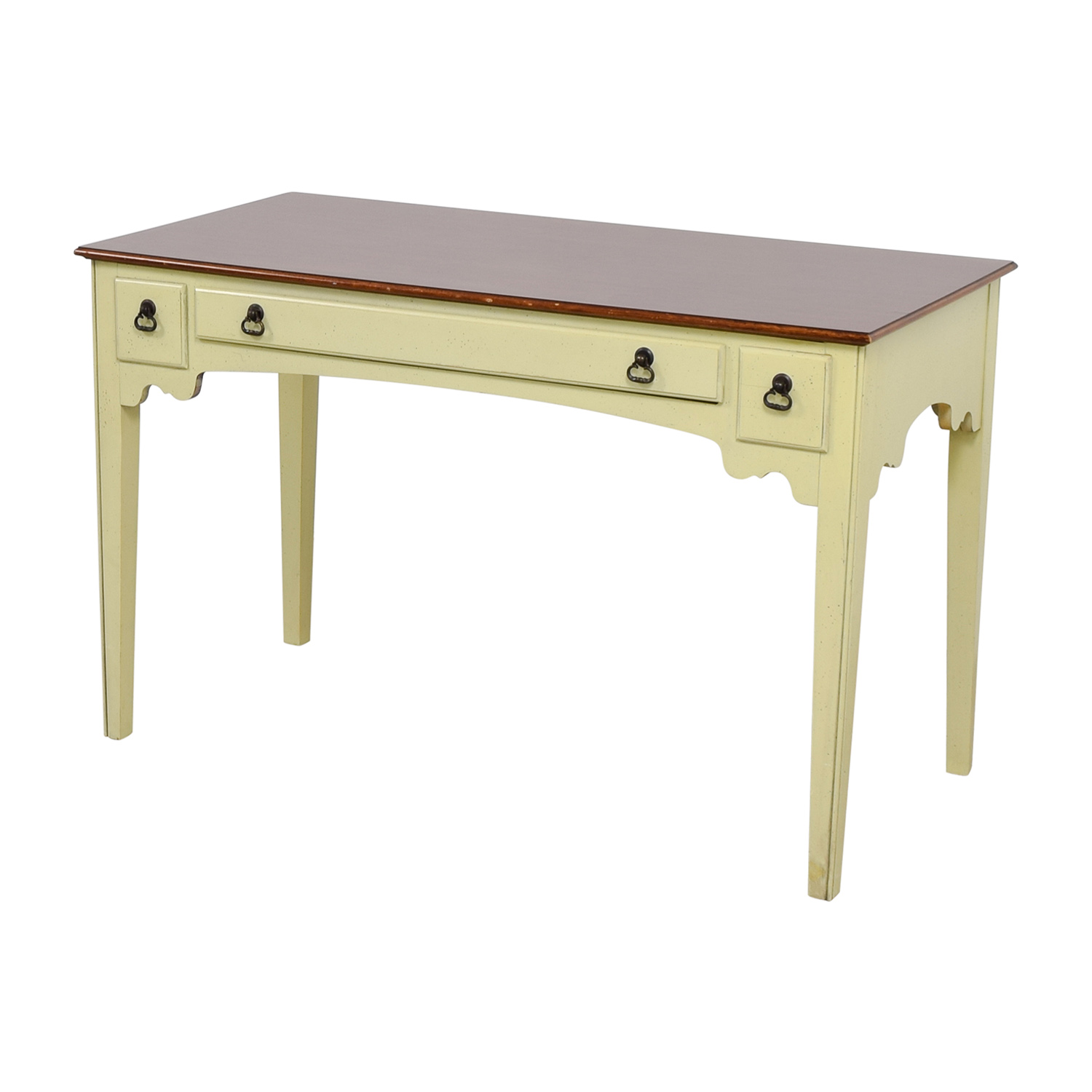 buy American of Martinsville White Single Drawer Vanity Desk American of Martinsville Home Office Desks