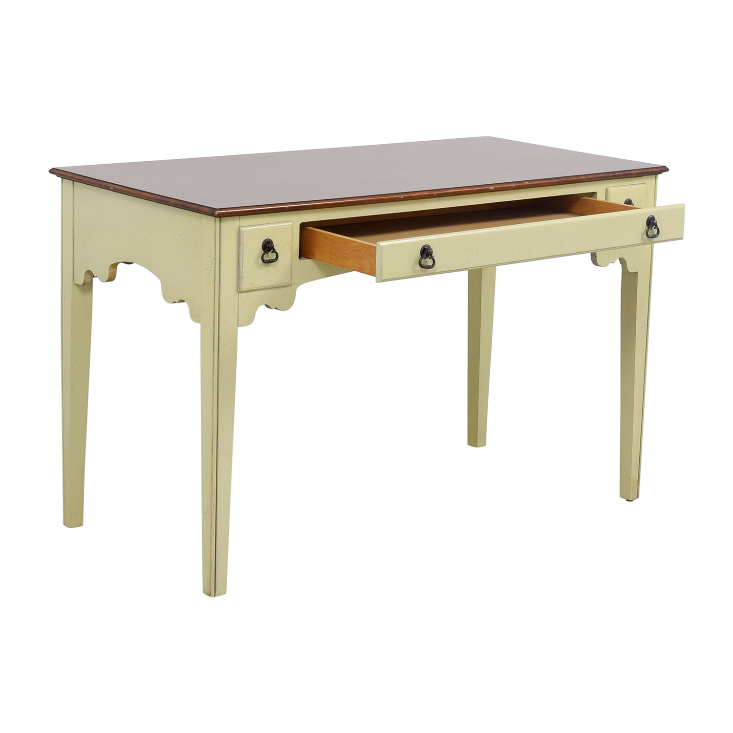 shop American of Martinsville White Single Drawer Vanity Desk American of Martinsville Tables
