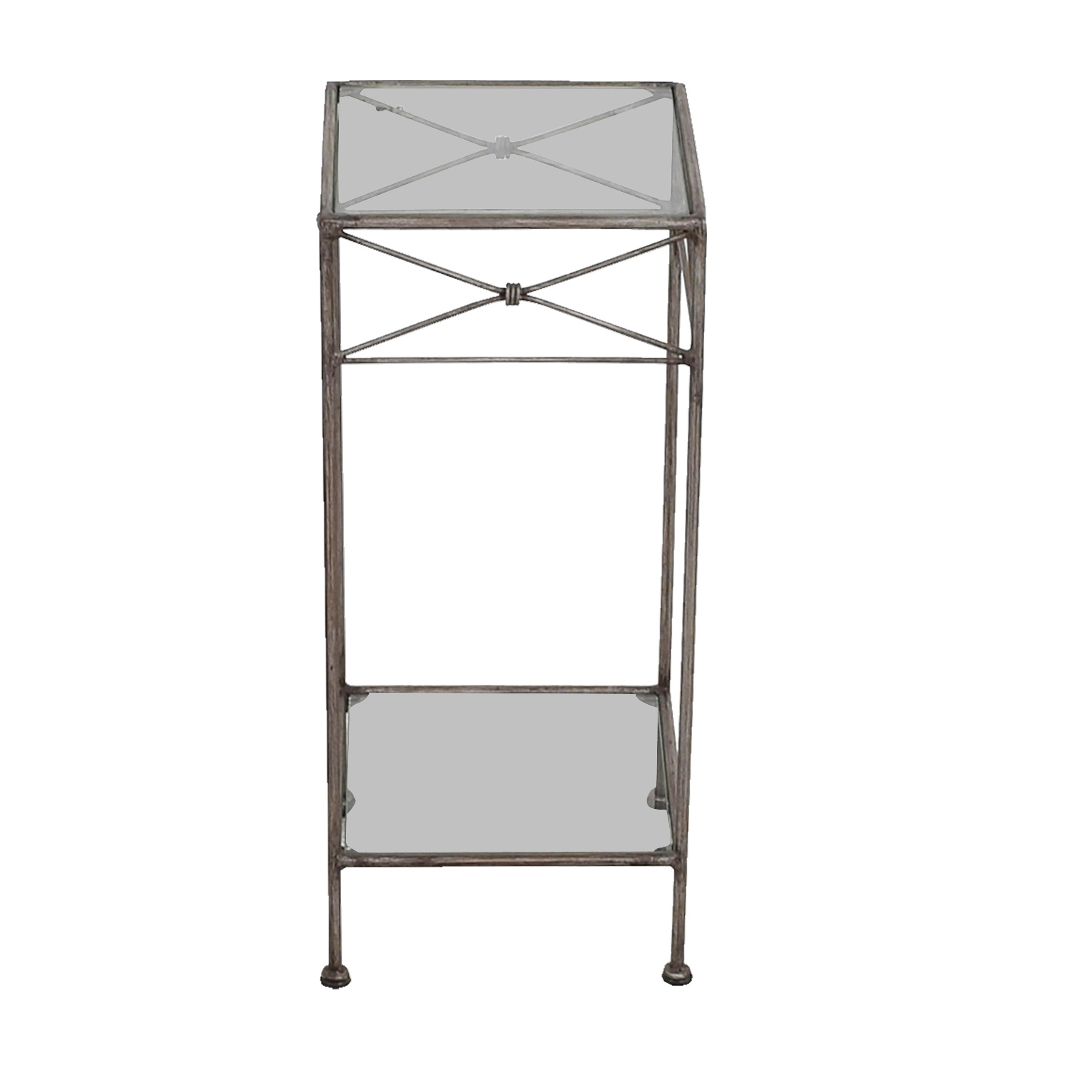 shop Wrought Iron and Glass Side Table