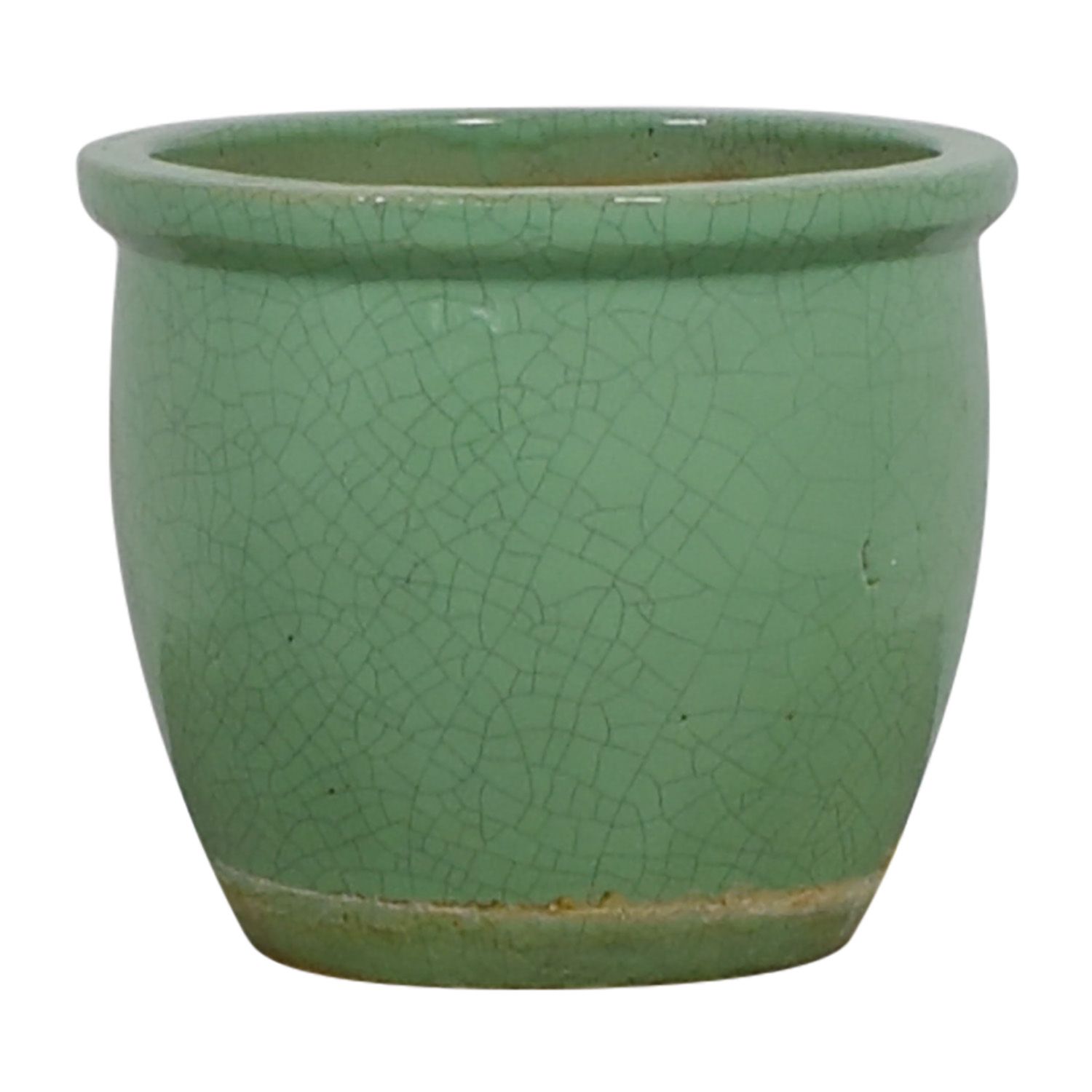 Ceramic Light Green Plant Holder nyc