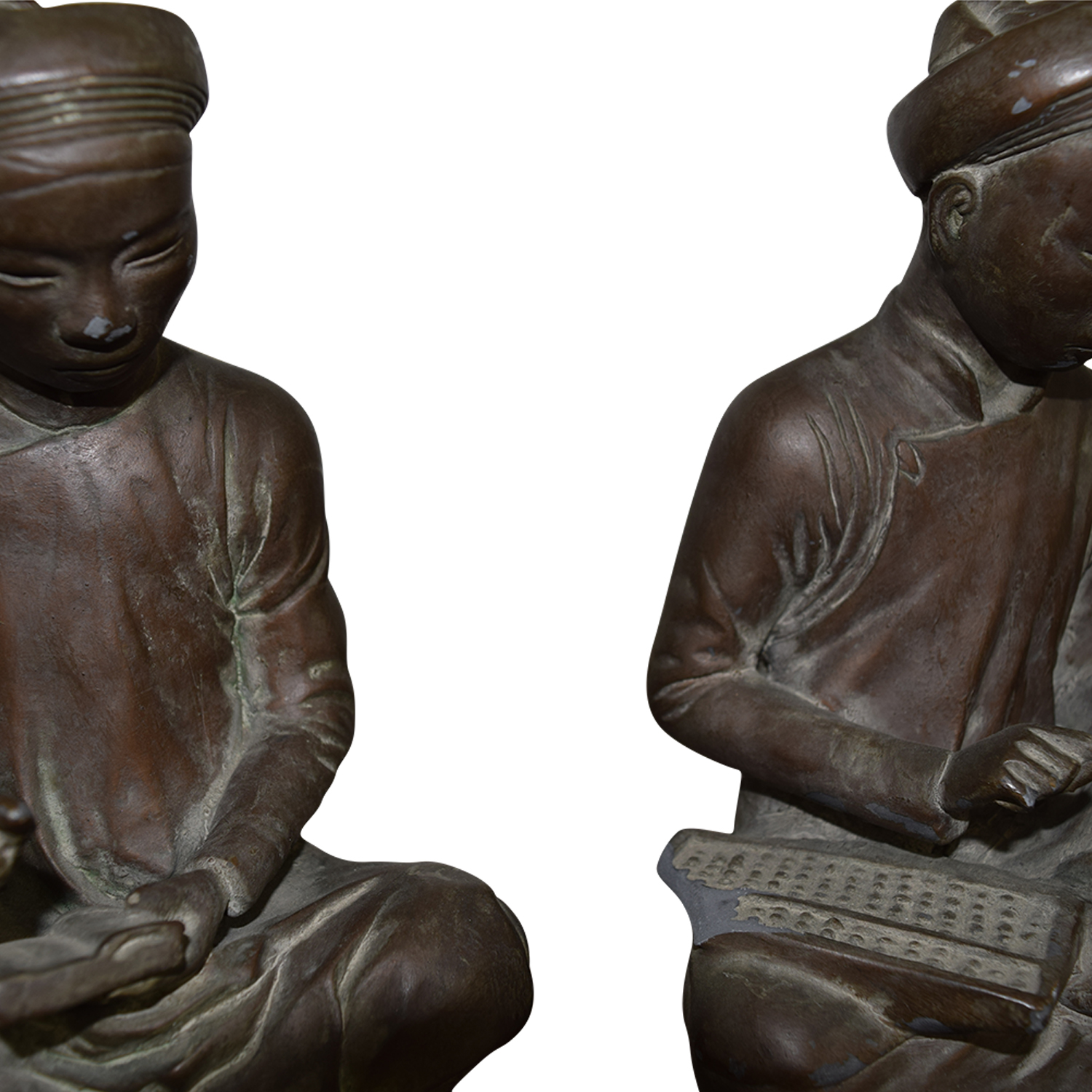 Asian Metal Table Statues used