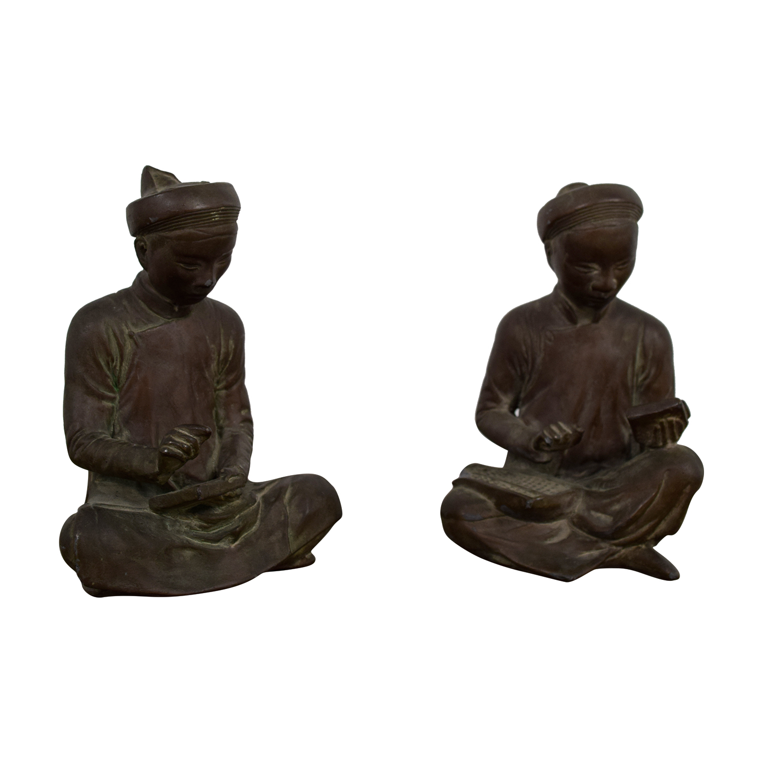 shop Asian Metal Table Statues