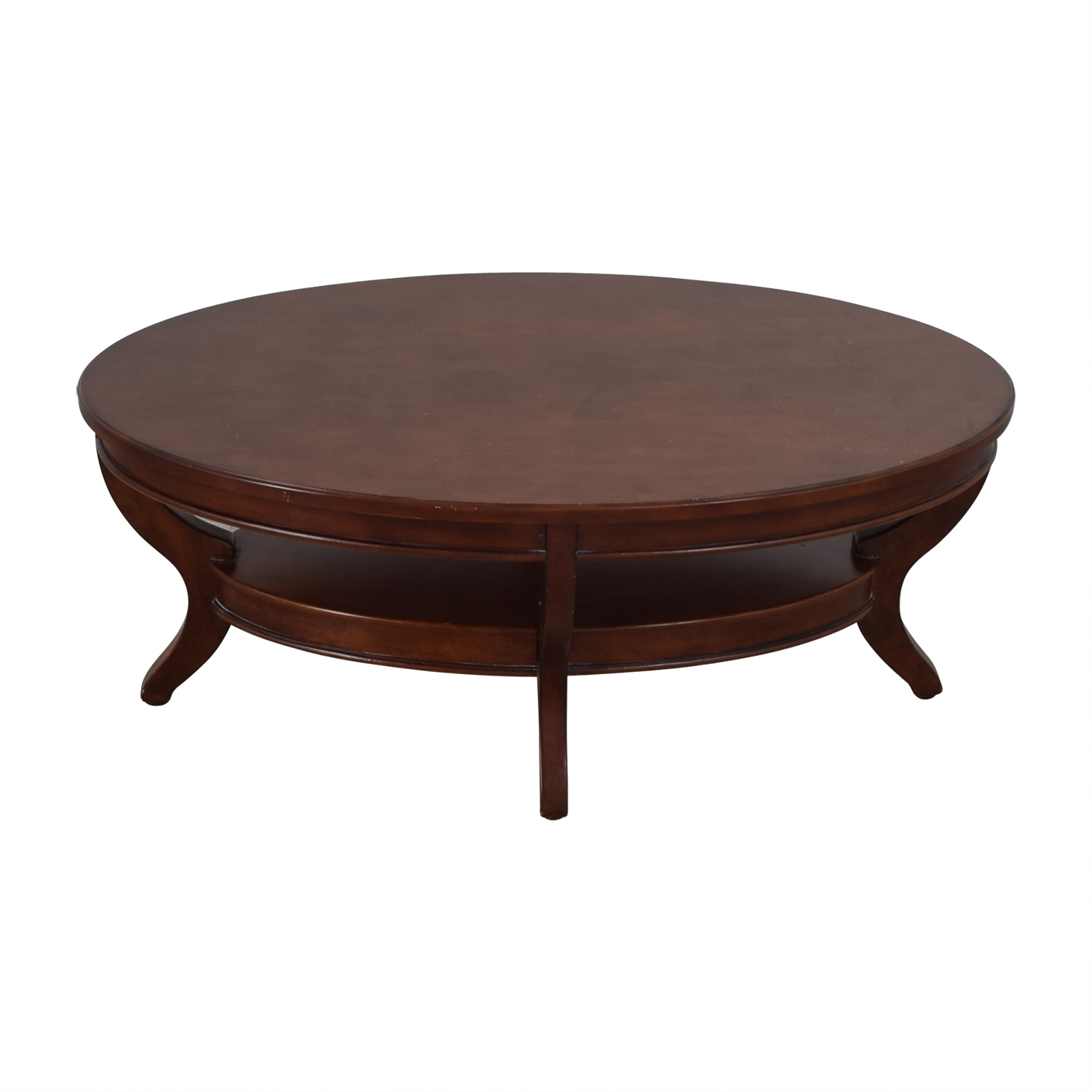 Homelegance Furniture Oval Wood Table with Shelf / Coffee Tables