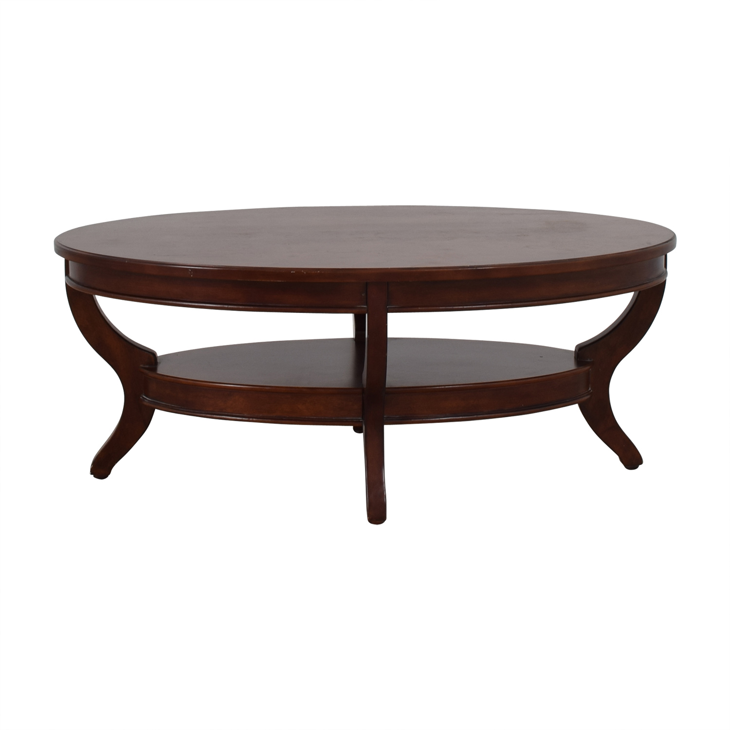 OFF Brown Wood Coffee Table with Side Drawers Tables