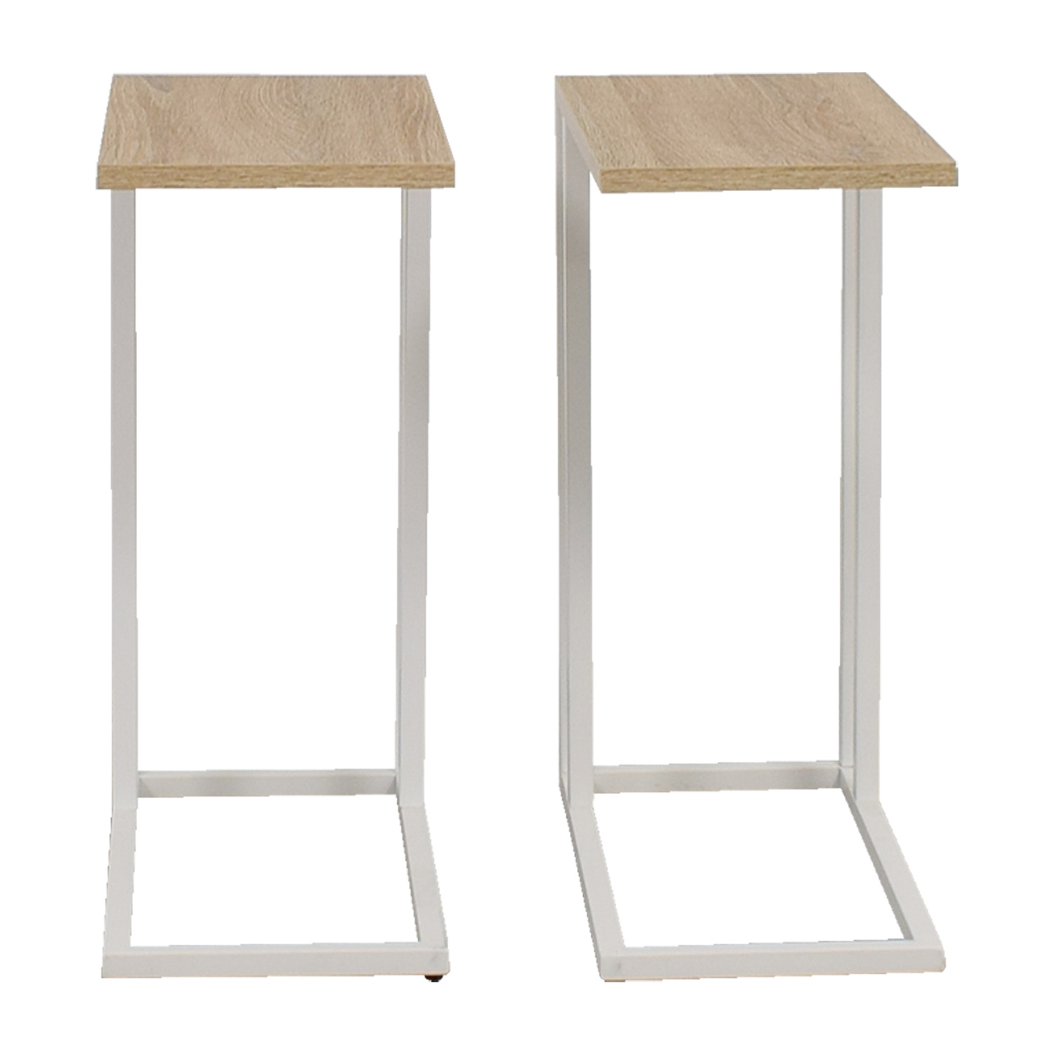 Container Store Container Store White and Natural Wood Side Tables discount