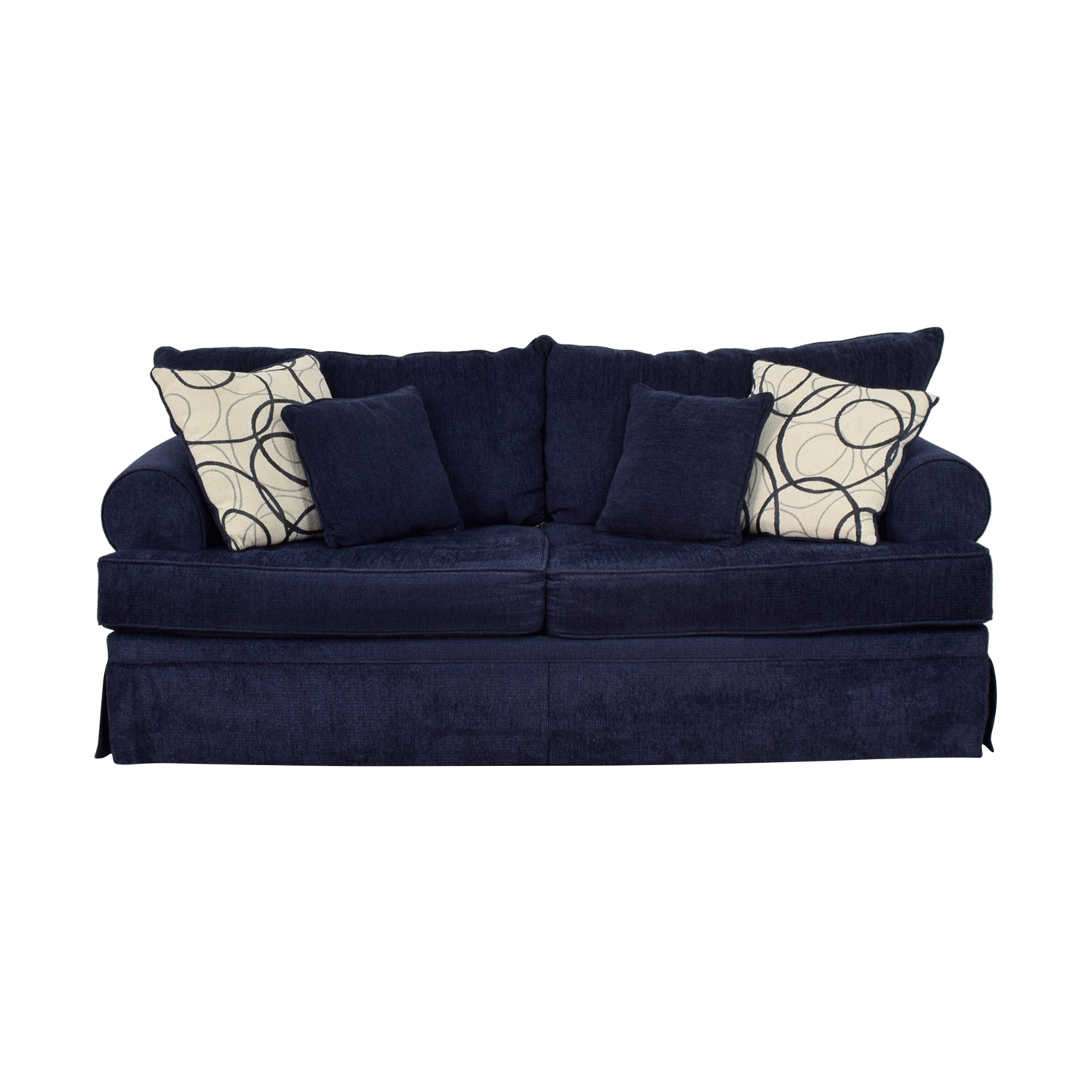 67 Off Bob S Discount Furniture Bob S Furniture Mystic Navy Sofa