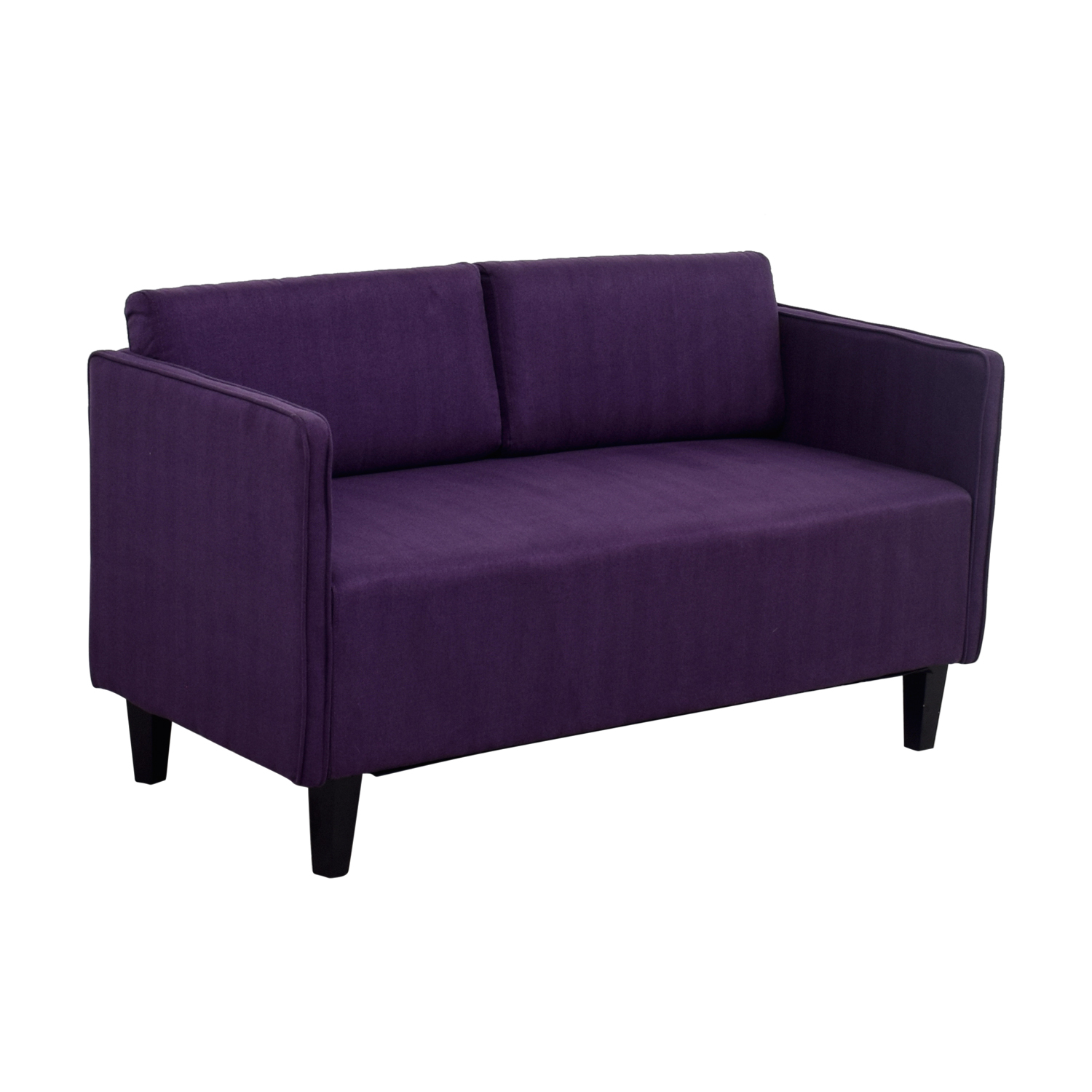 shop Ebern Designs Ebern Designs Dempsey Purple Herringbone Loveseat online