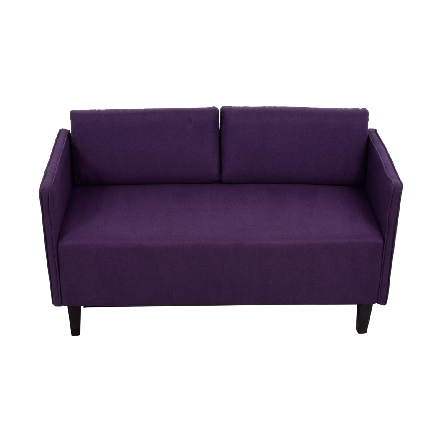Ebern Designs Ebern Designs Dempsey Purple Herringbone Loveseat purple