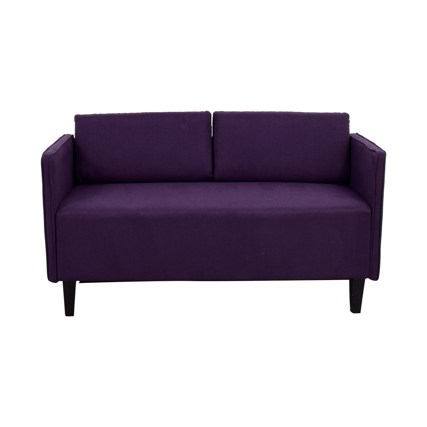 Ebern Designs Ebern Designs Dempsey Purple Herringbone Loveseat second hand