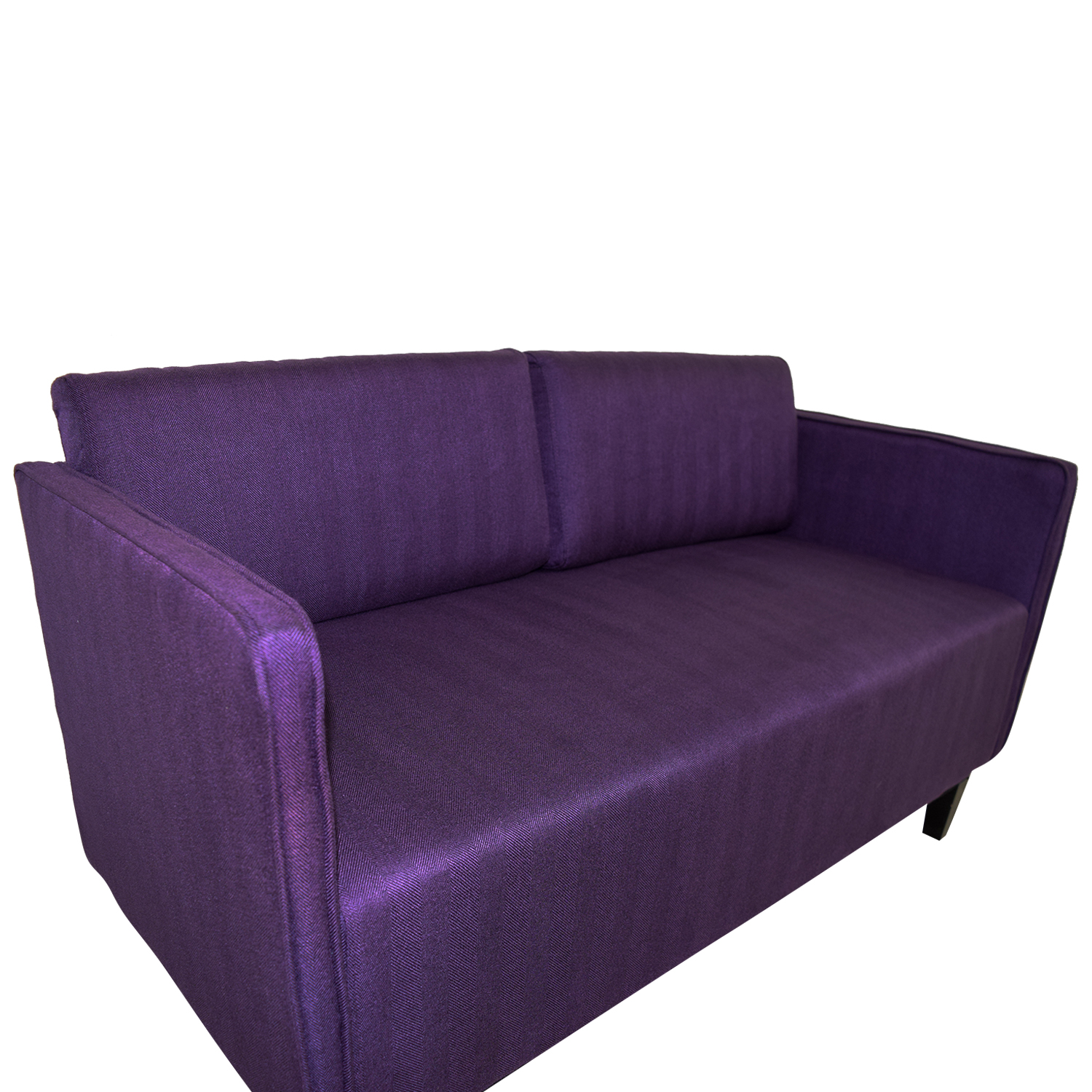 Ebern Designs Ebern Designs Dempsey Purple Herringbone Loveseat dimensions