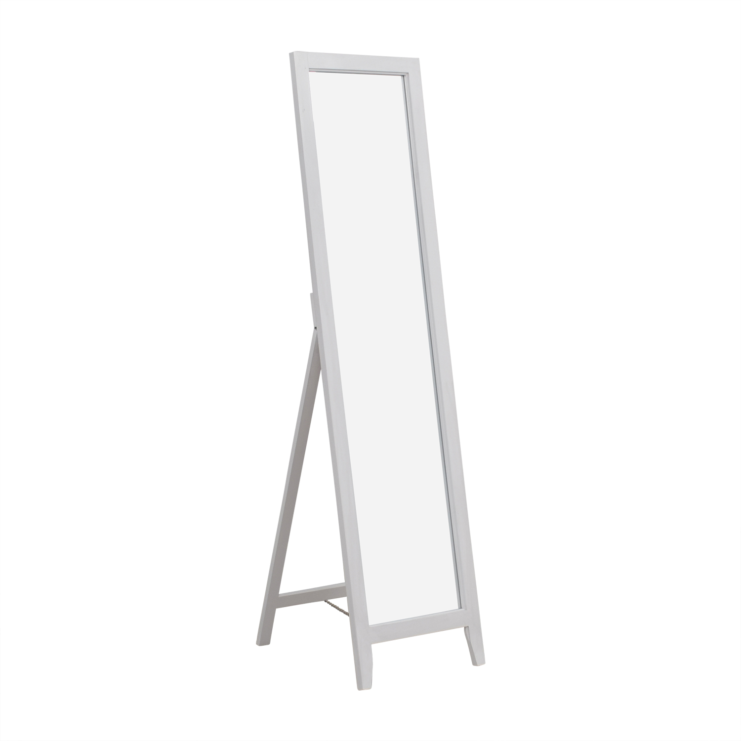 Kings Brand White Wood Frame Floor Mirror / Mirrors