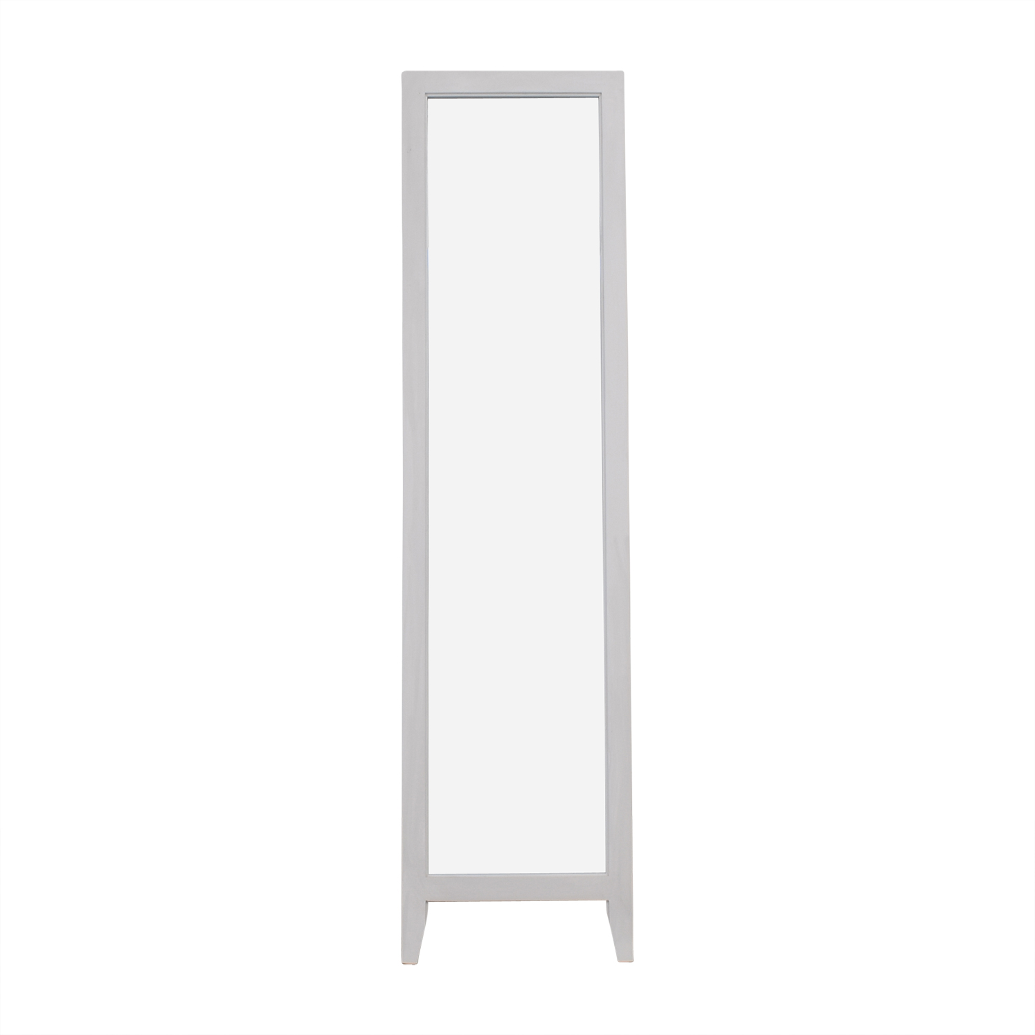 shop Kings Brand White Wood Frame Floor Mirror Kings Brand Mirrors