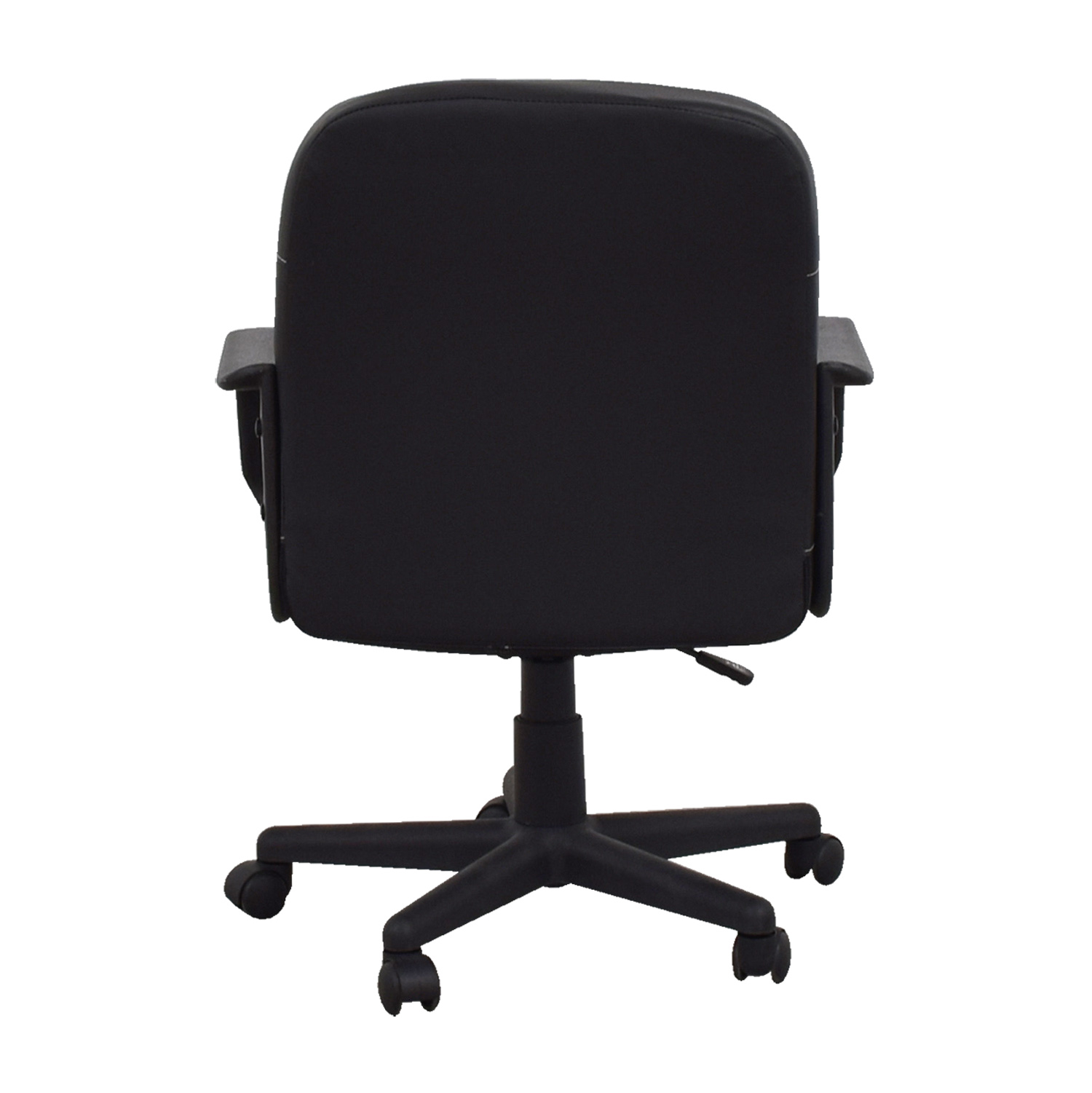 Comfort Products Black Bonded Leather Mid-Back Chair sale