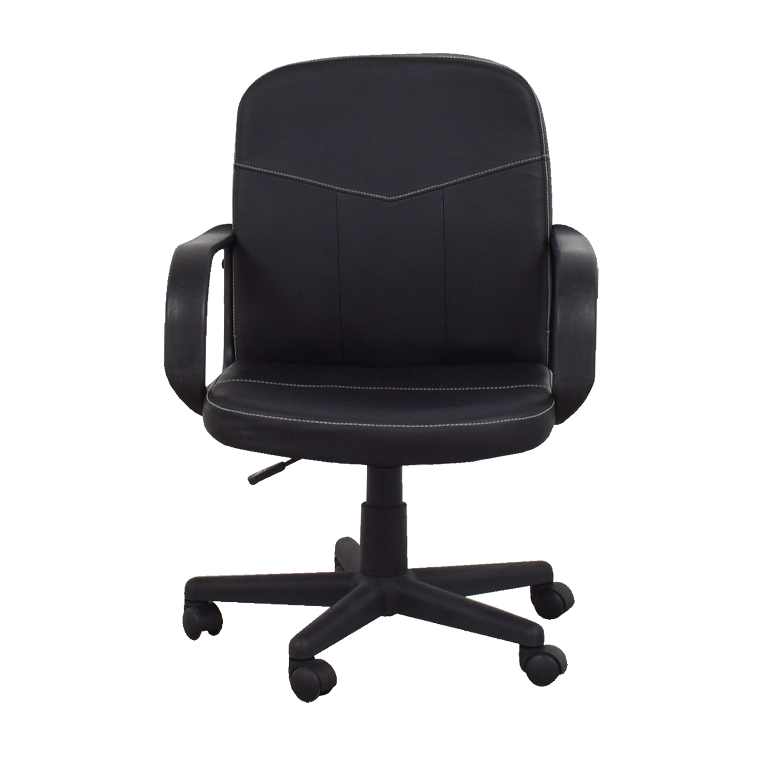 buy Comfort Products Black Bonded Leather Mid-Back Chair Comfort Products Chairs