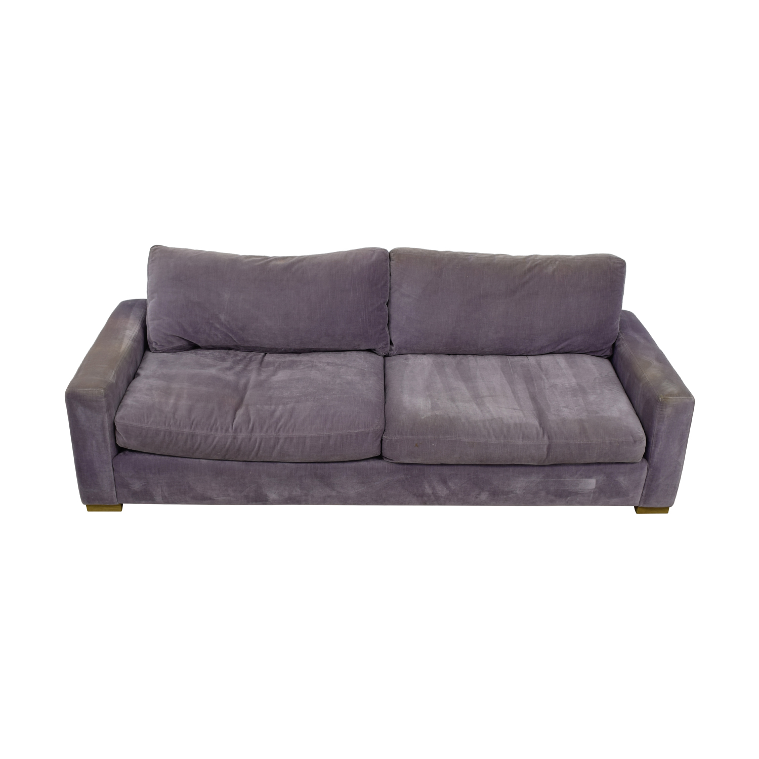 Restoration Hardware Restoration Hardware Maxwell Purple Down Filled Sofa nyc