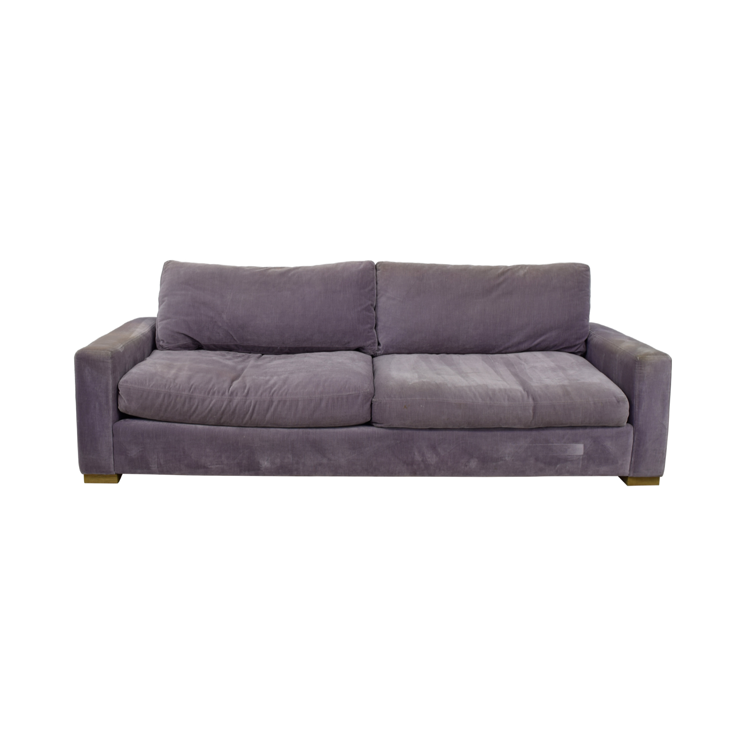 Restoration Hardware Restoration Hardware Maxwell Purple Down Filled Sofa second hand