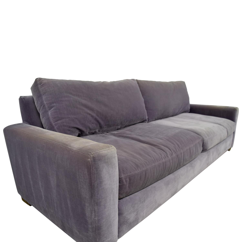 ... Shop Restoration Hardware Maxwell Purple Down Filled Sofa Restoration  Hardware ...