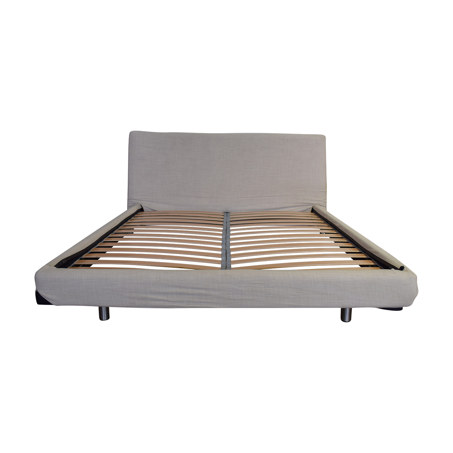 Design Within Reach Design Within Reach Reve Oatmeal Fabric Platform Queen Bed Frame nj