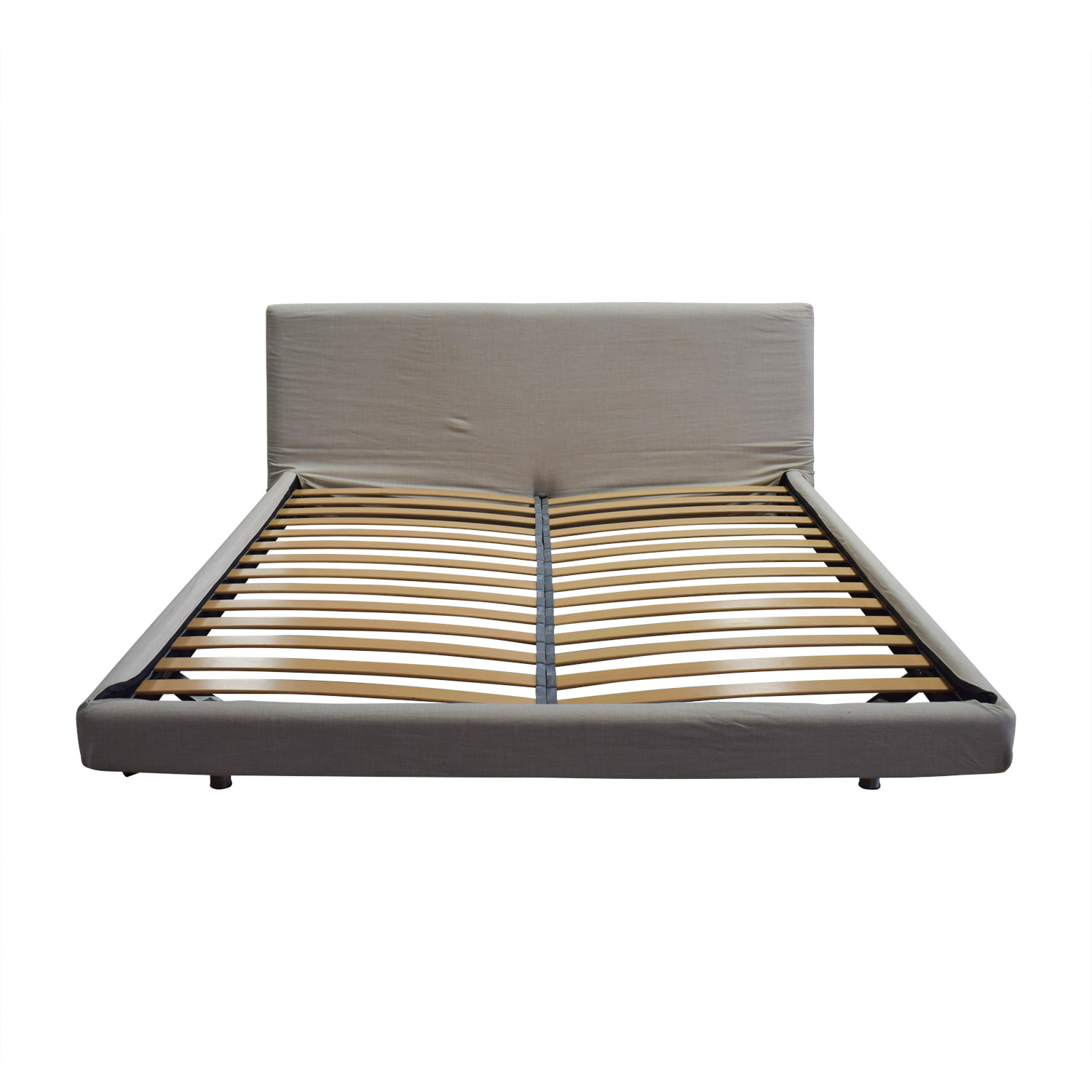 Design Within Reach Design Within Reach Reva Oatmeal Fabric Platform King Bed Frame for sale